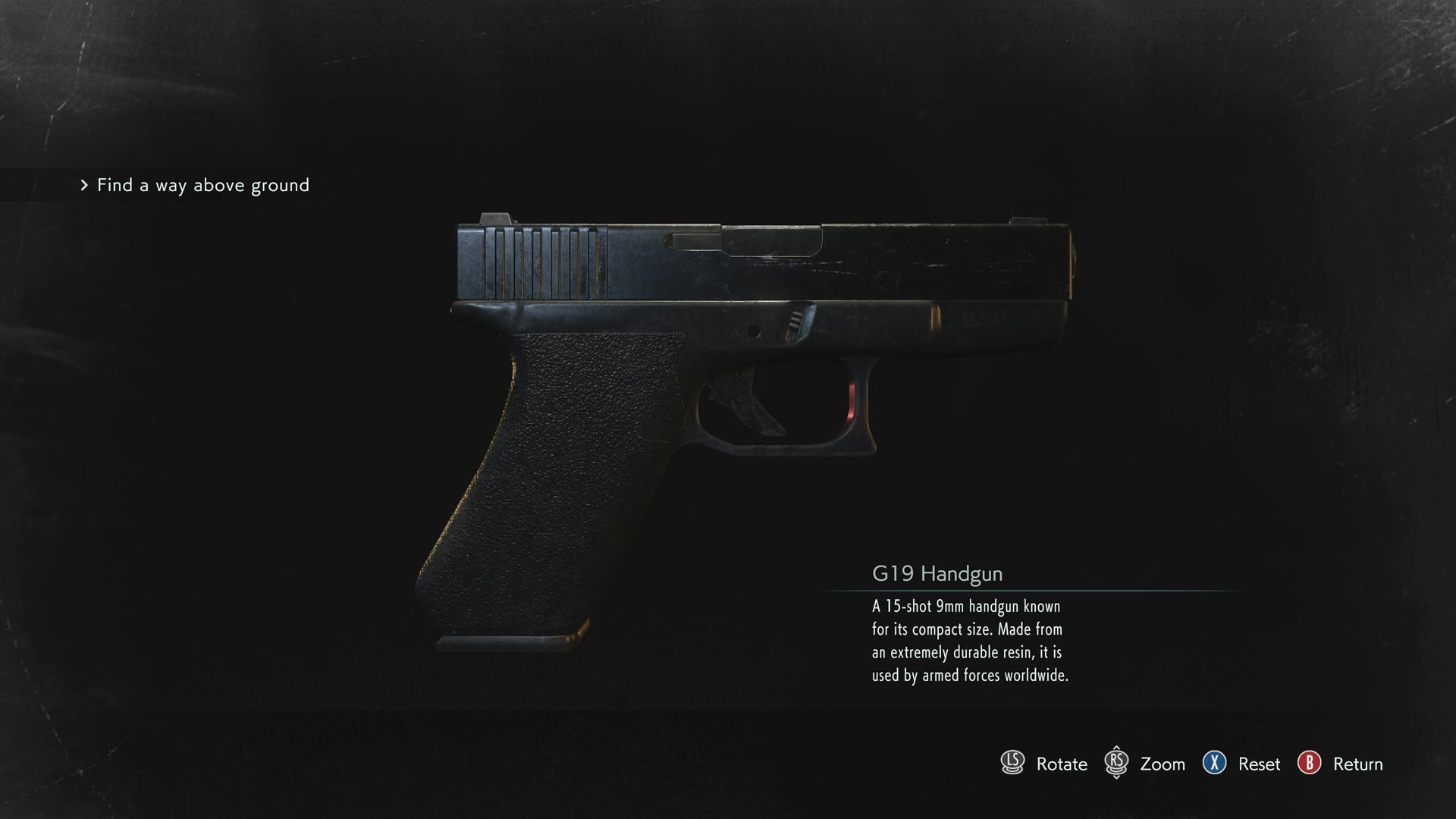 Resident Evil 3 G19 Handgun