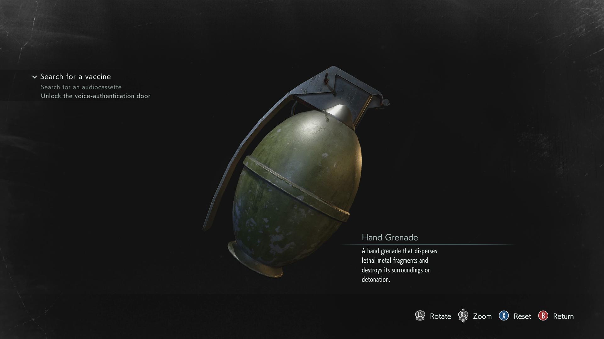 Resident Evil 3 Hand Grenade