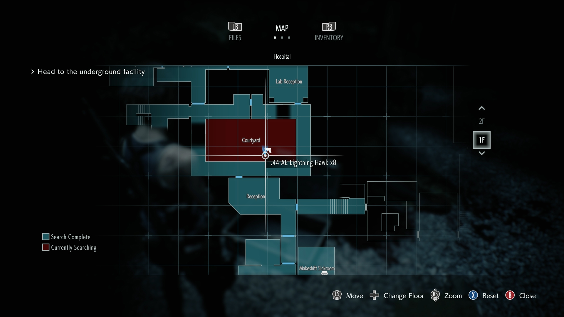 Resident Evil 3 0.44 AE Lightning Hawk Magnum location map