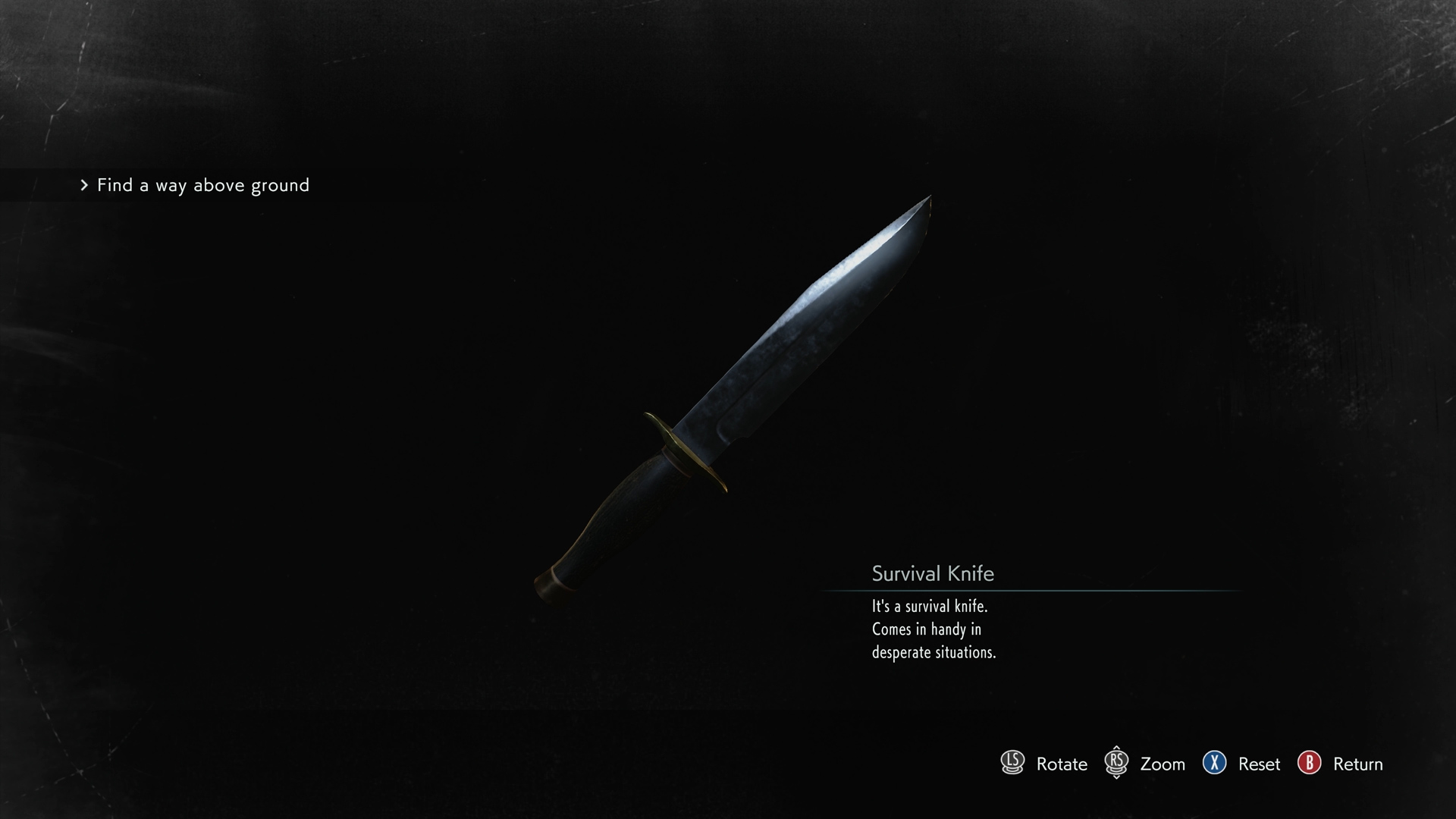 Resident Evil 3 suvival knife