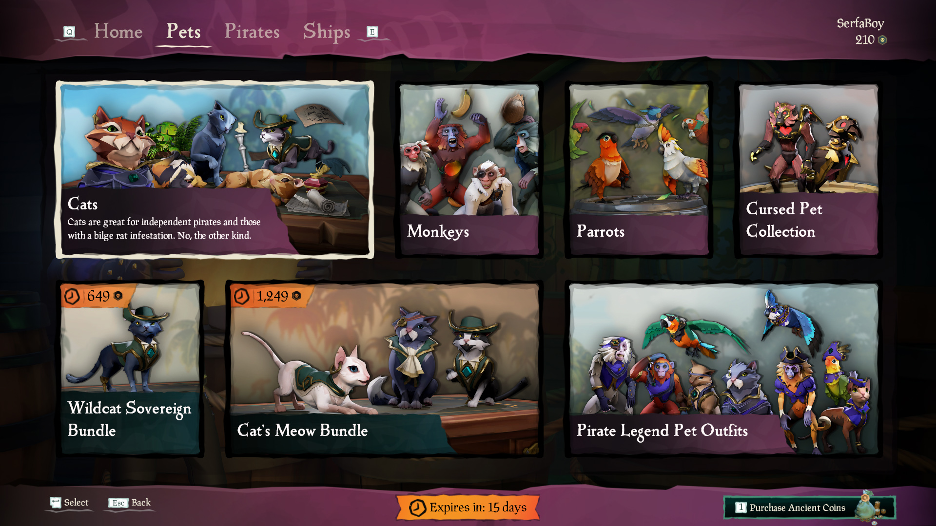 get a pet sea of thieves