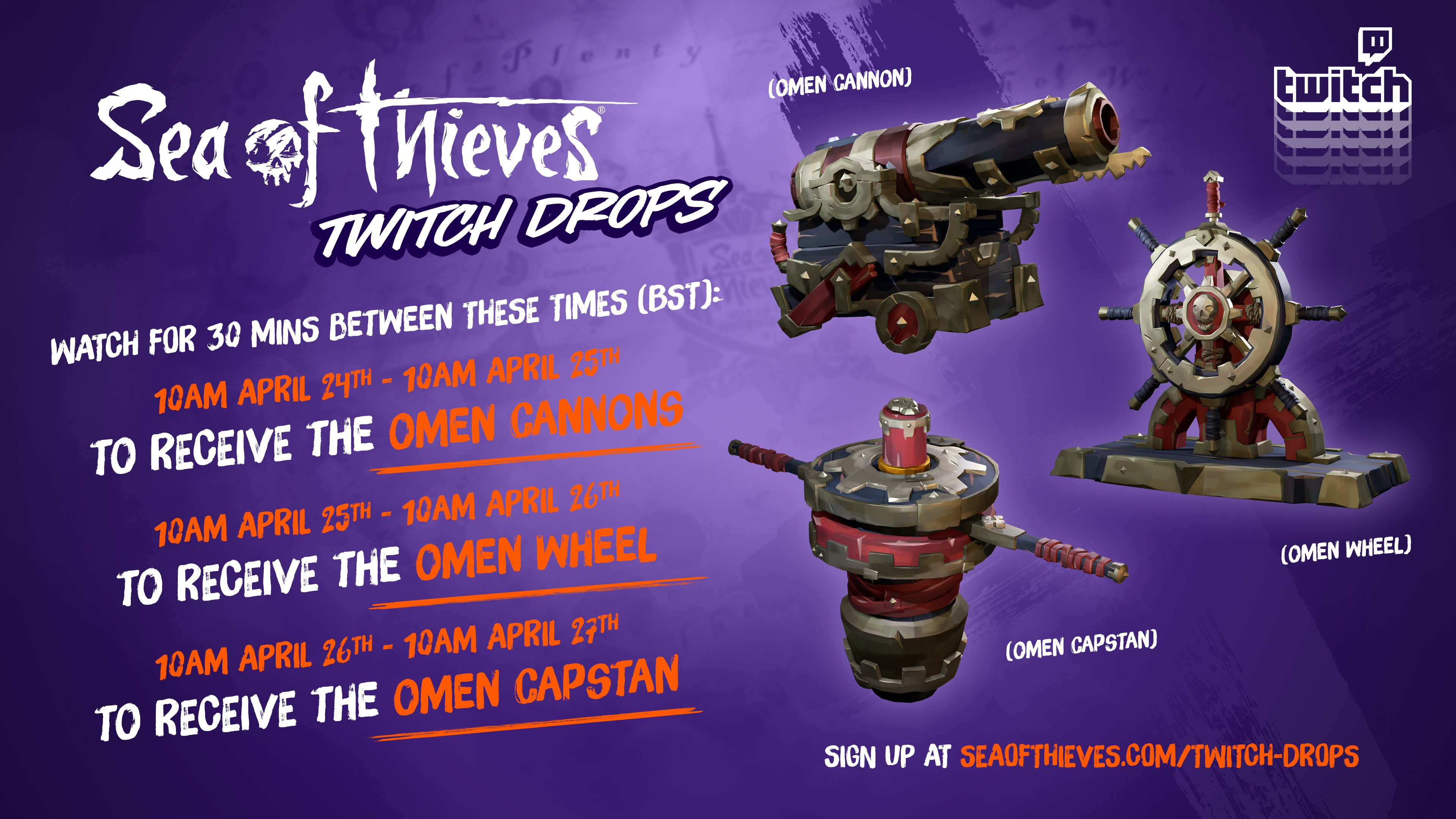 sea of thieves omen shipset Twitch Drops