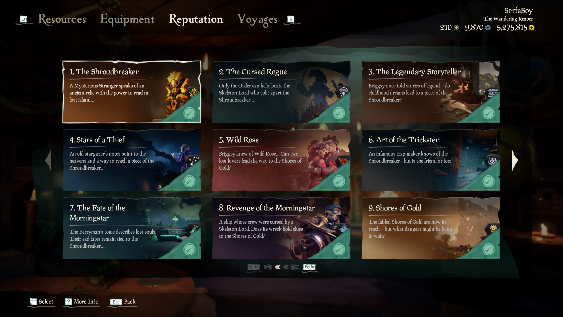 sea of thieves tall tale play order