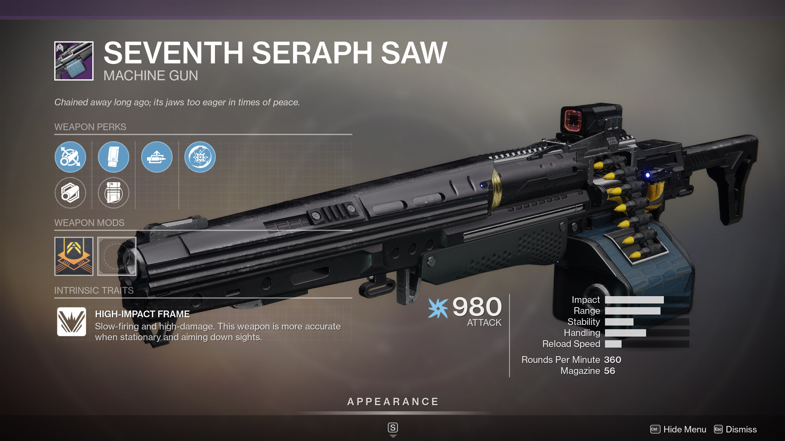 Seventh Seraph Saw God Roll Destiny 2