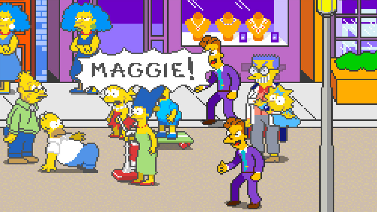 The Simpsons are off to rescue Maggie.