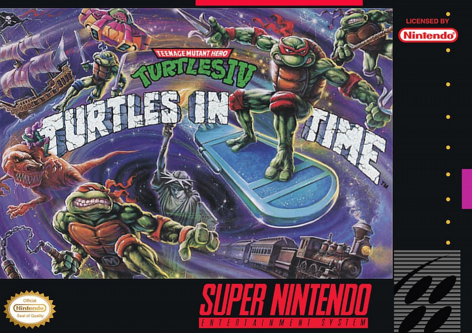 Teenage Mutant Ninja Turtles: Turtles in Time for Super Nintendo.