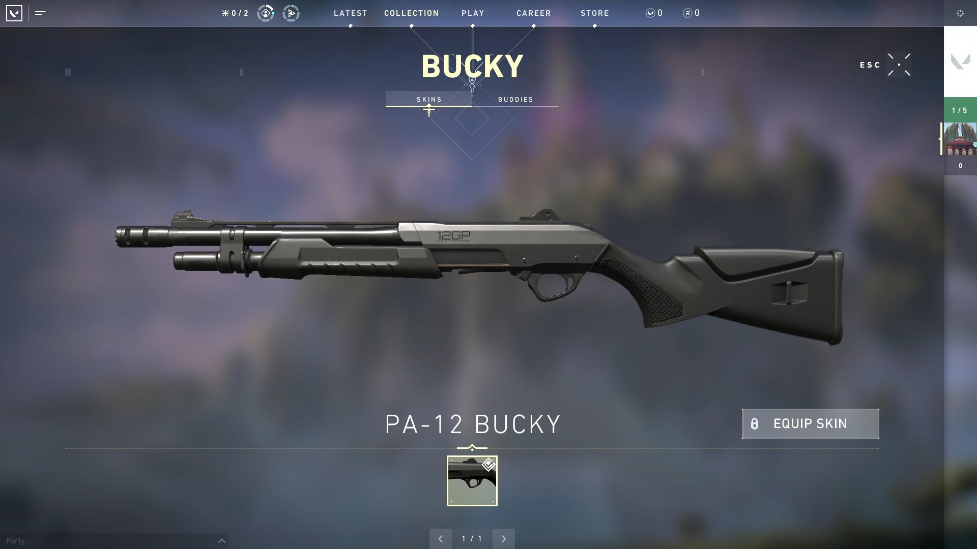 Valorant weapon stats Bucky