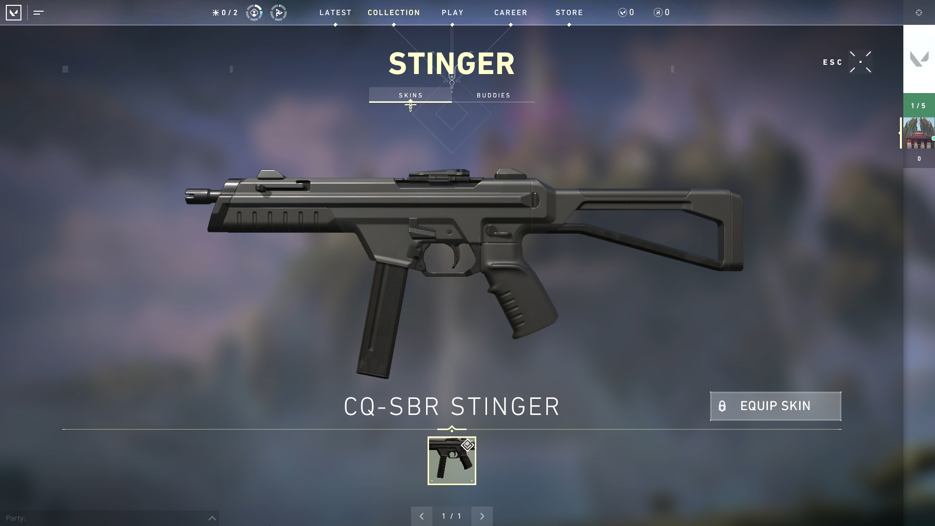 Valorant weapon stats Stinger