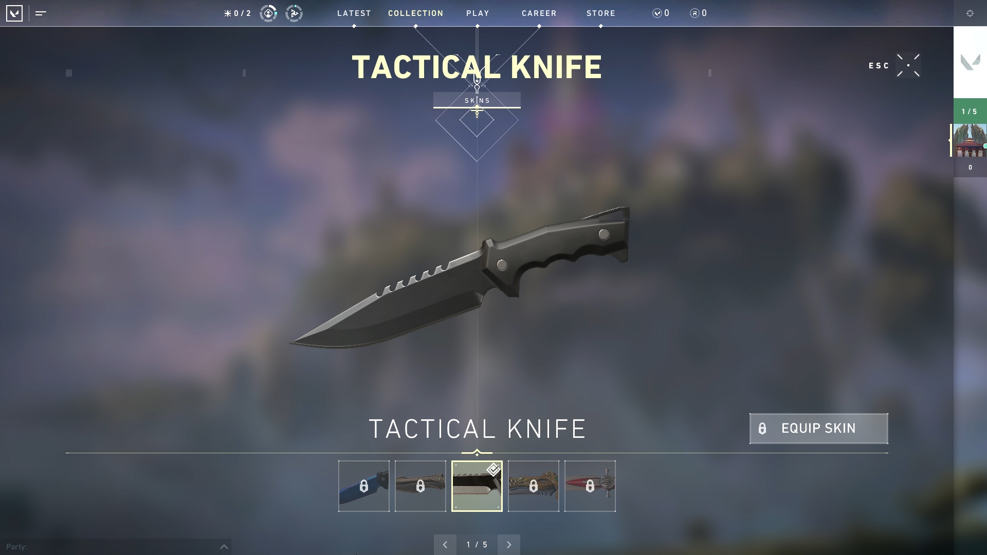 Valorant weapon stats Tactical Knife