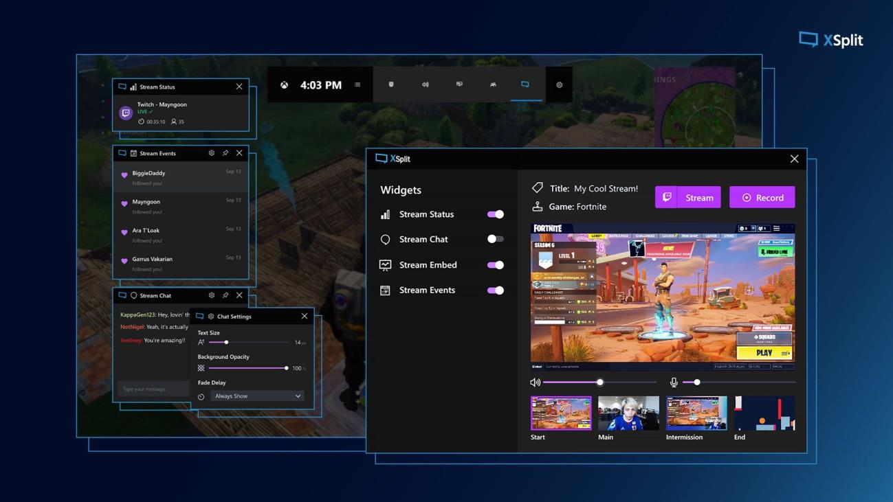 XSplit - Xbox Game Bar