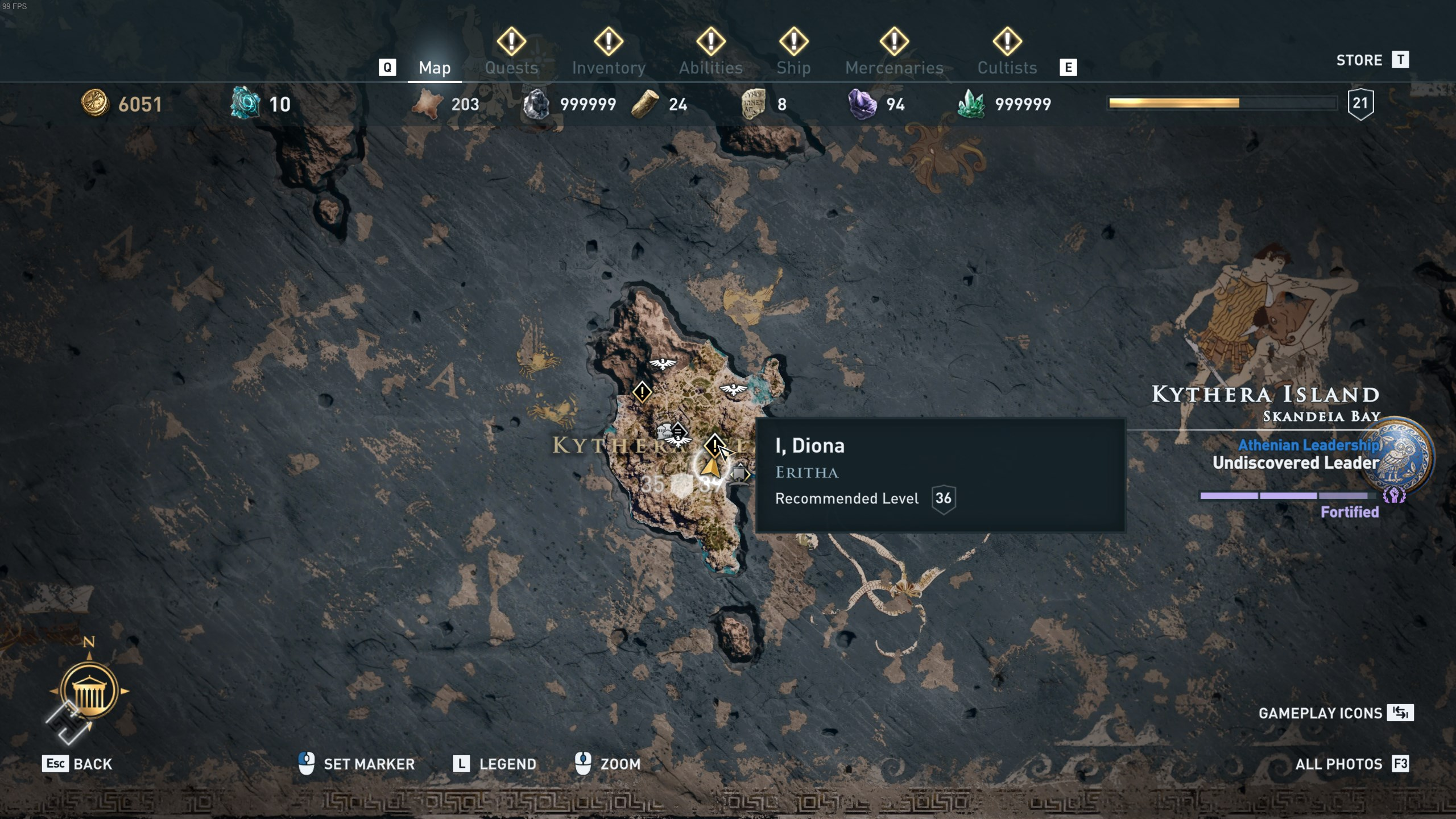 Assassin's Creed Odyssey - Diona location