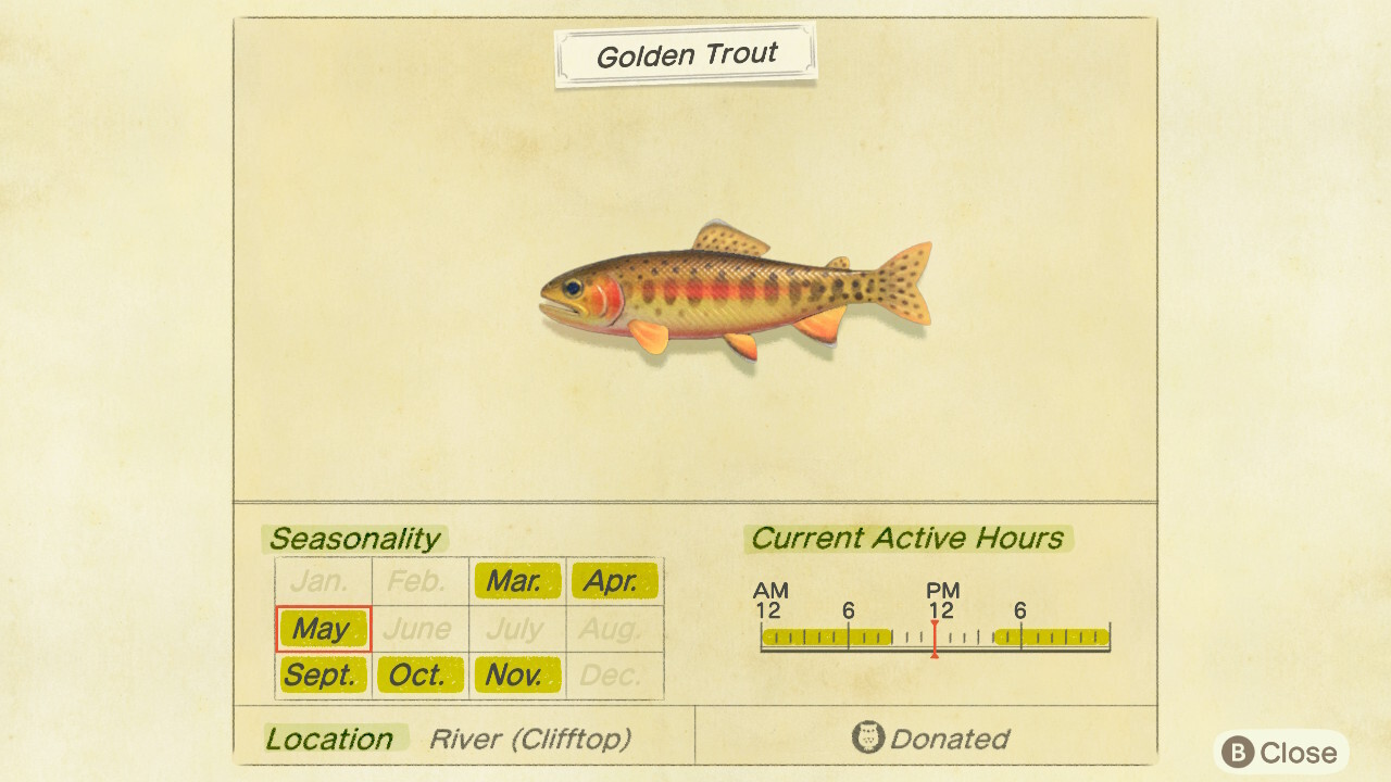 The Golden Trout in Animal Crossing: New Horizons