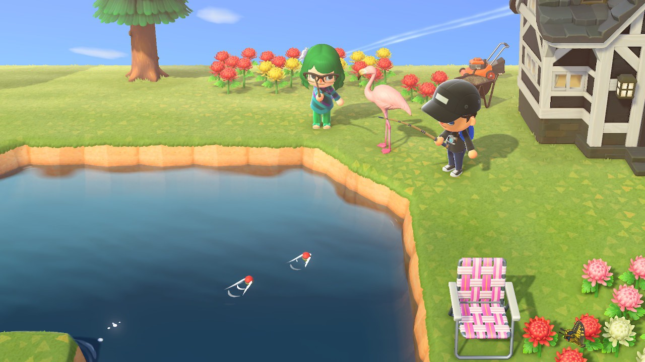Playing online in Animal Crossing: New Horizons.