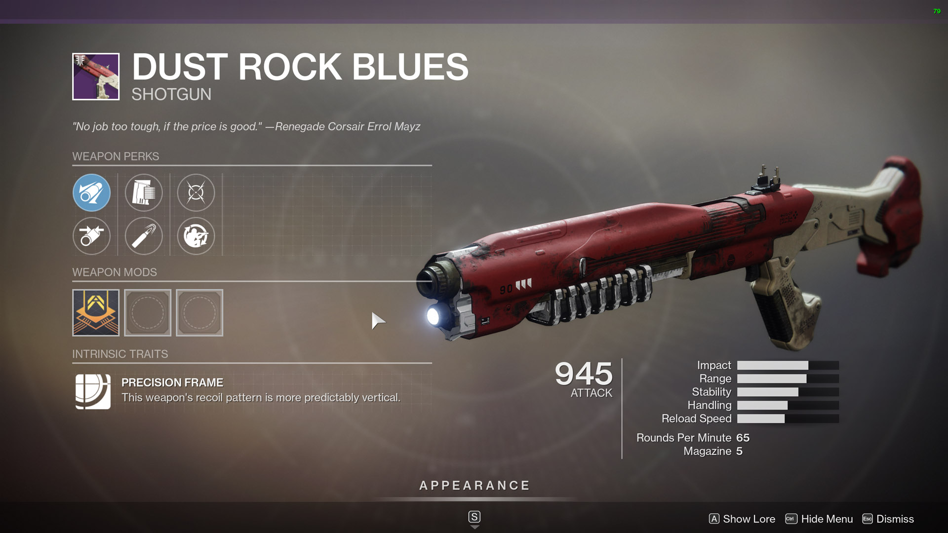 destiny 2 best shotguns Dust Rock Blues