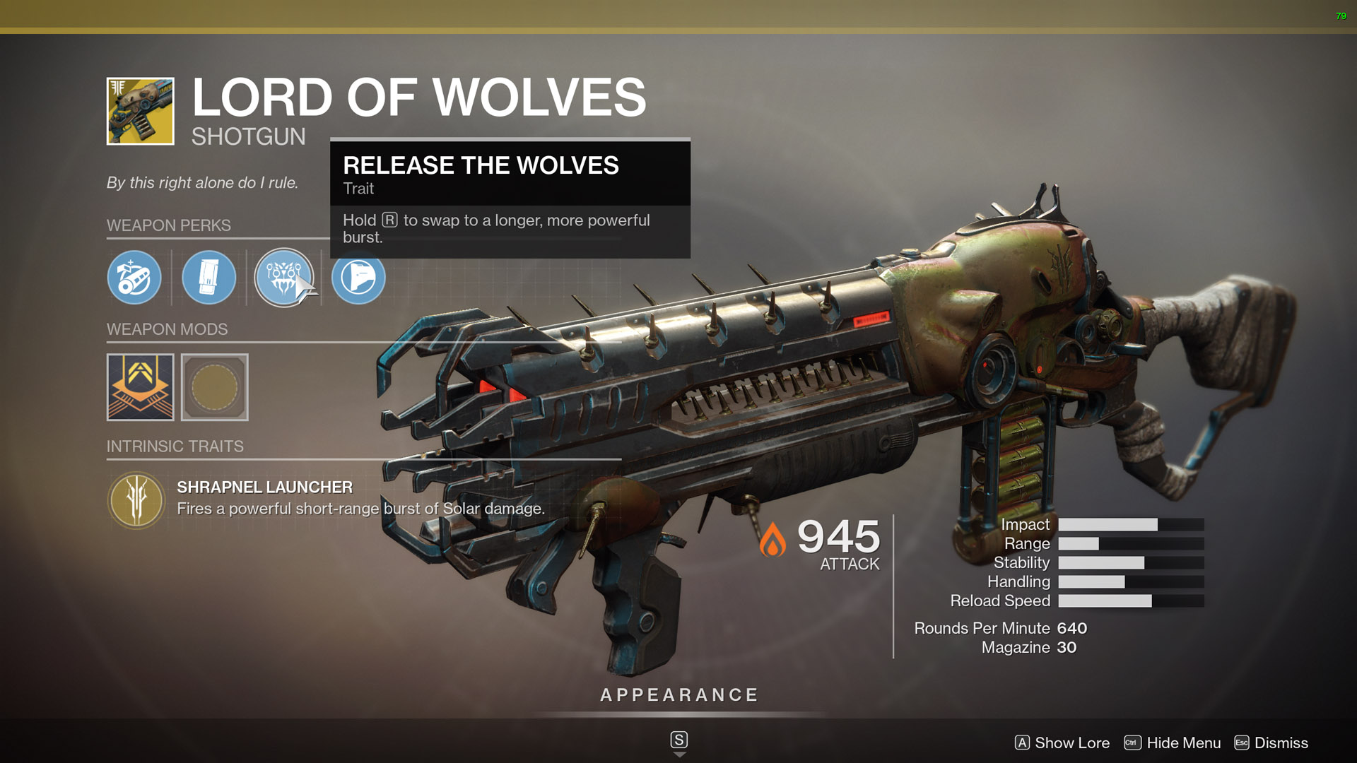 Destiny 2 best shotguns Lord of Wolves