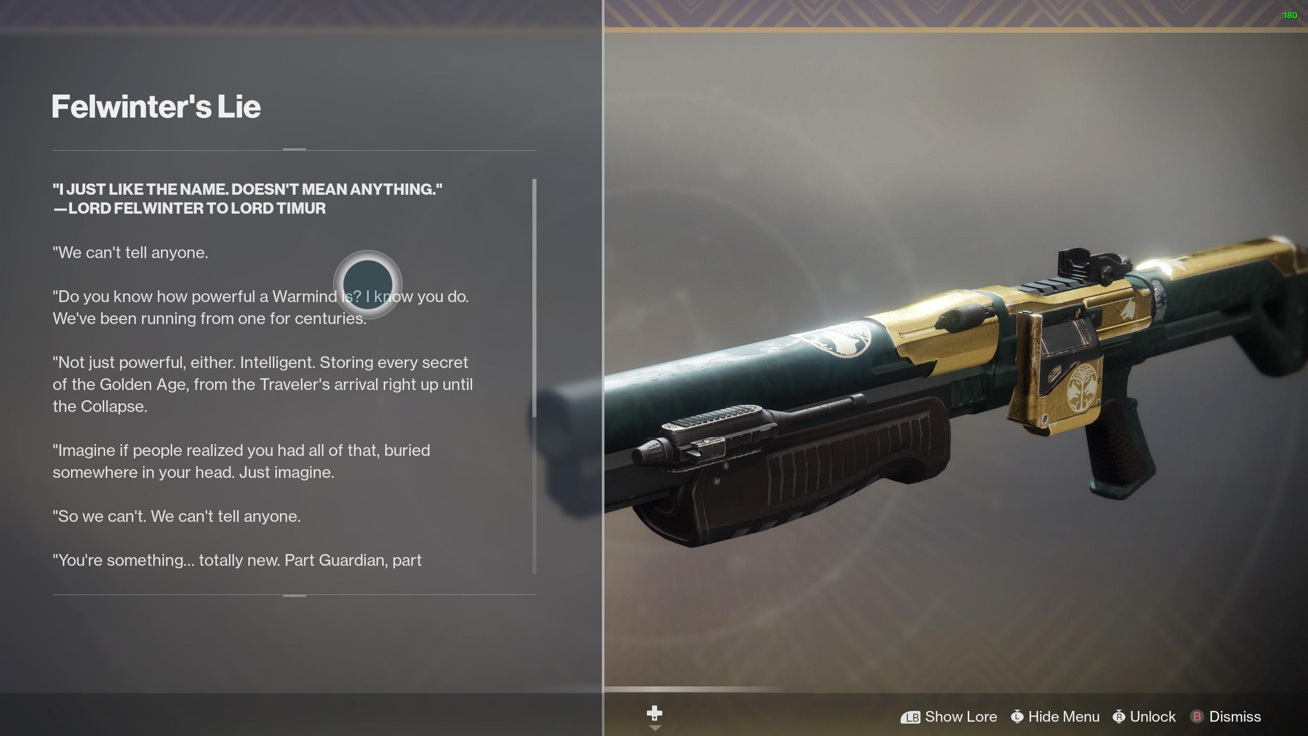 destiny 2 felwinter's lie lore