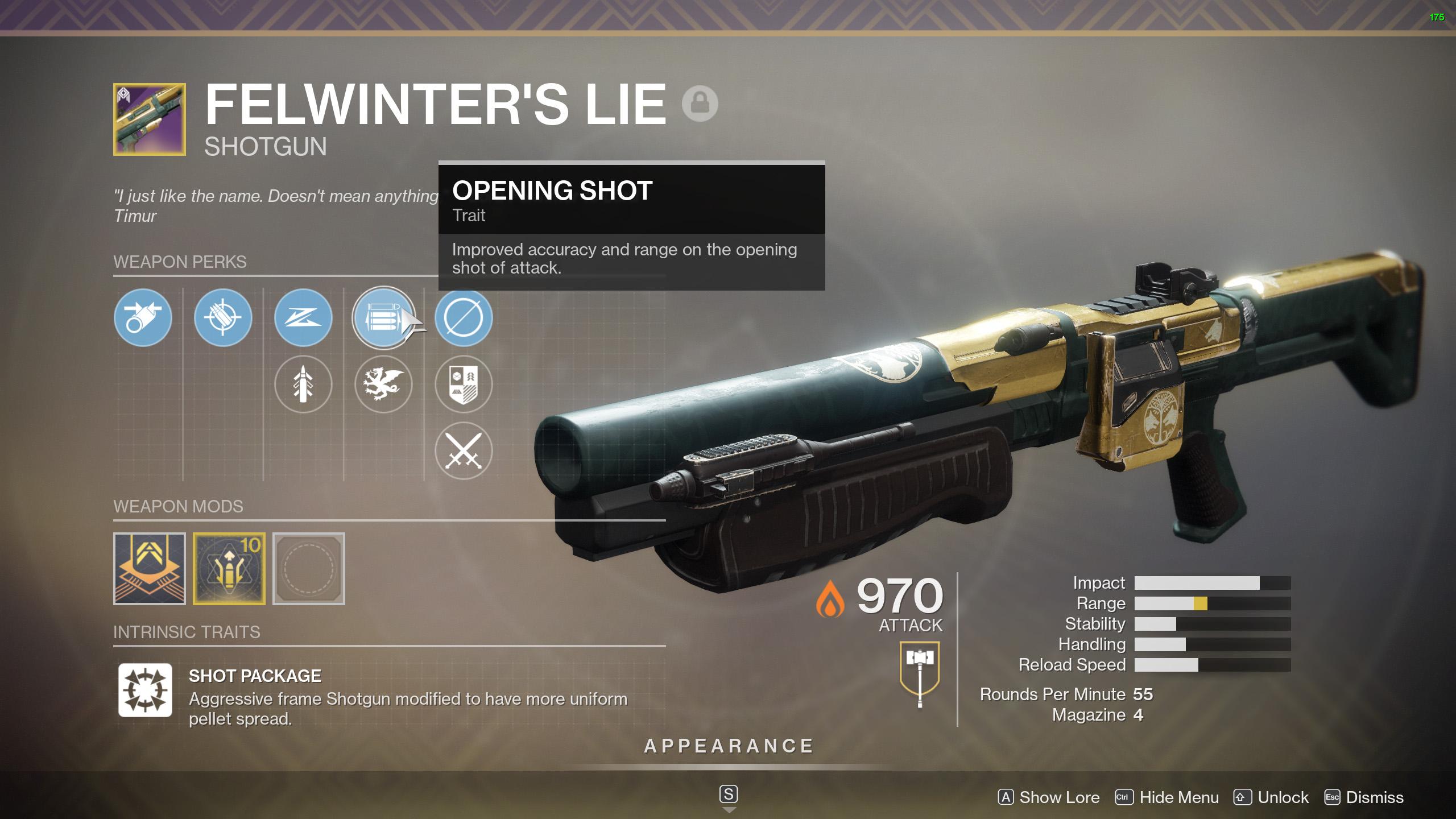Destiny 2 Felwinter's Lie perks
