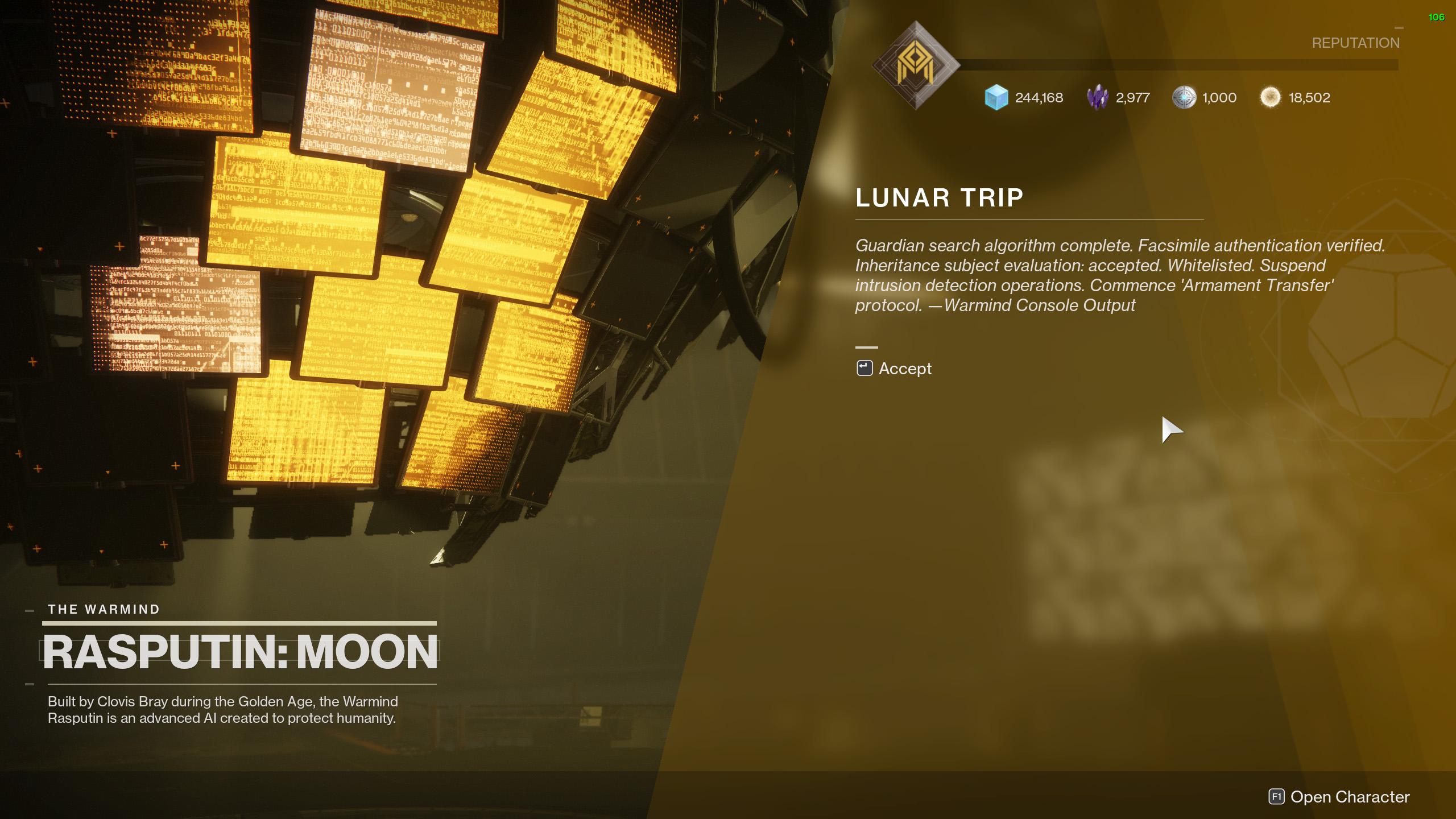 destiny 2 the lie lunar trip