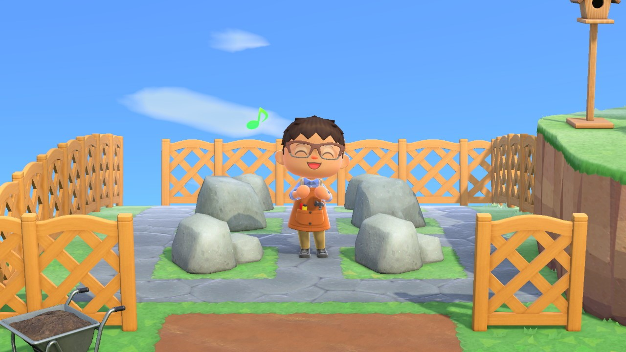 completed rock garden - animal crossing: new horizons