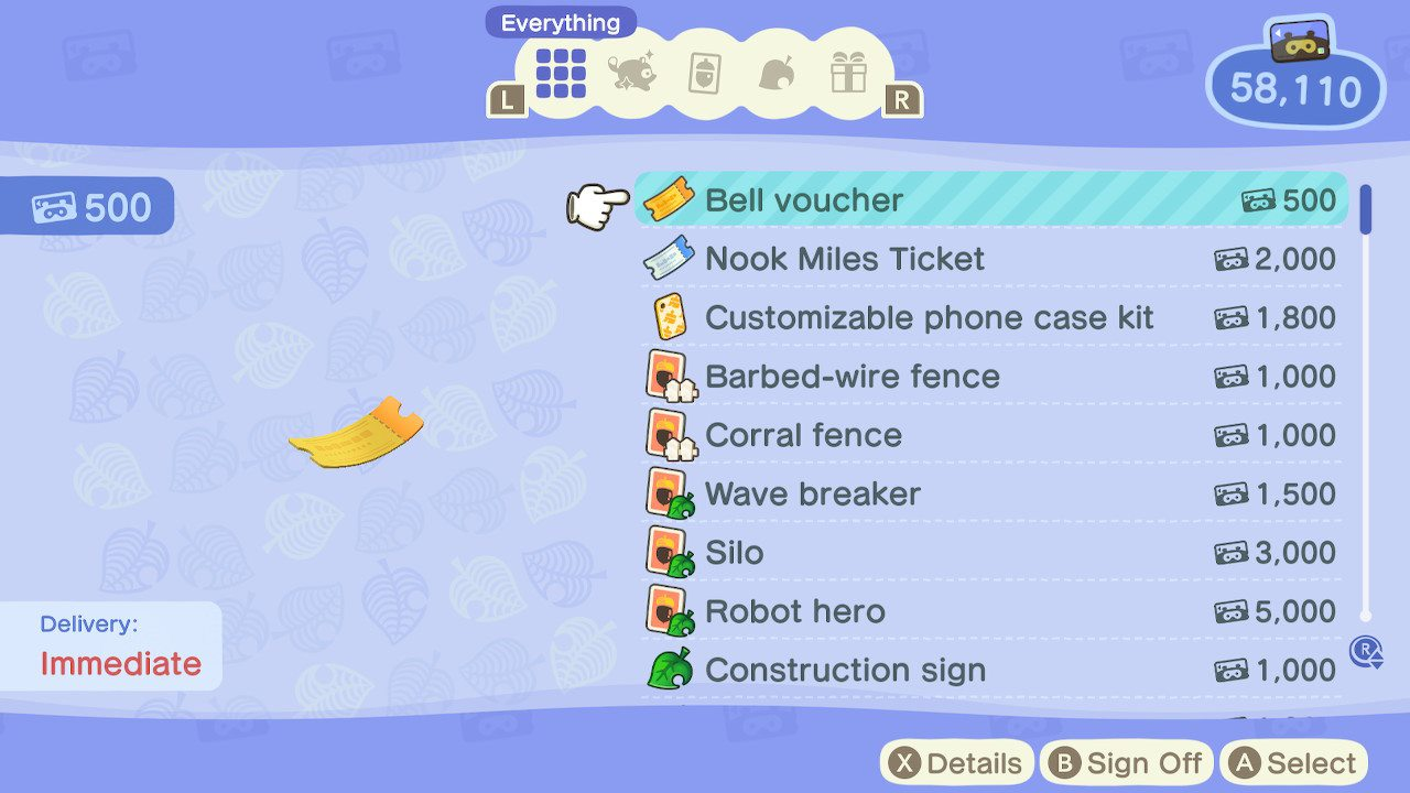 How to buy Bell Vouchers - animal crossing: new horizons