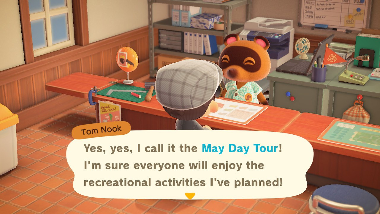 Tom Nook's May Day tour - Animal Crossing: New Horizons