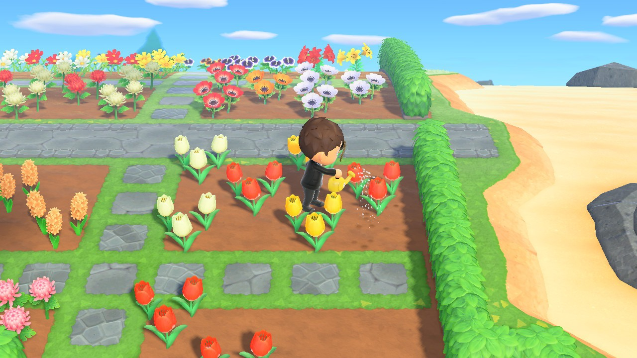 flowers beds in animal crossing: new horizons