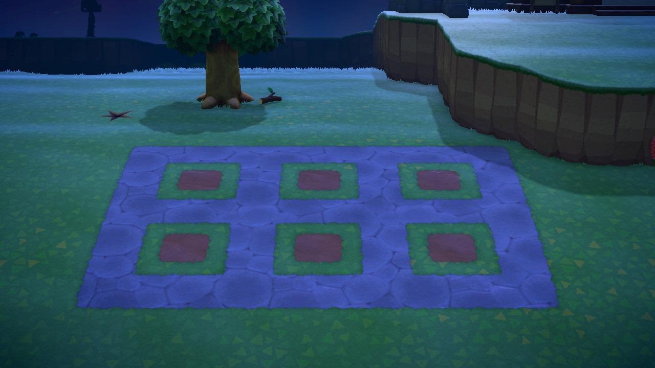 Rock garden grid - animal crossing: new horizons