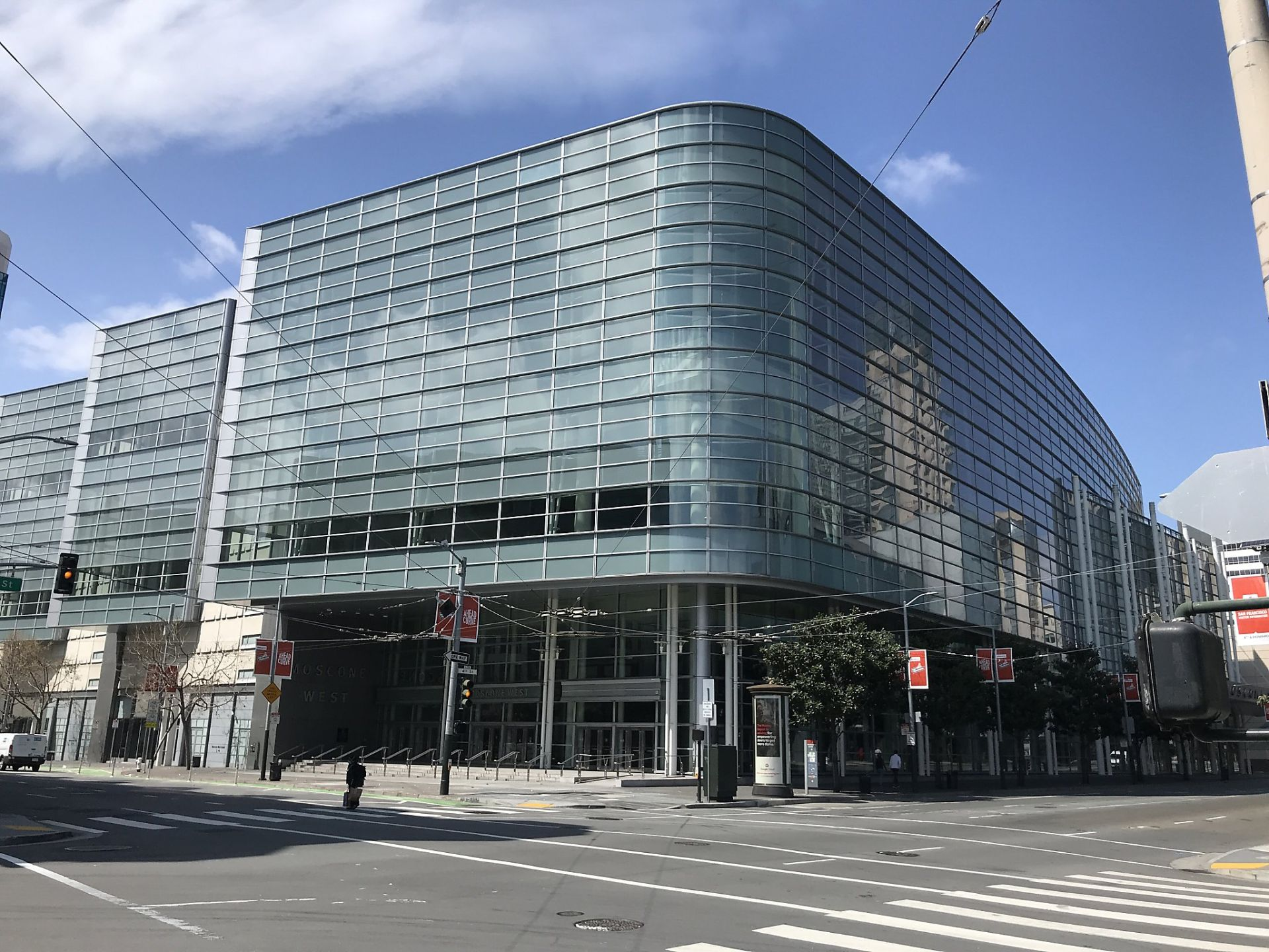 Moscone West, part of the Moscone Center and host of the annual Game Developers Conference, has been converted to a COVID-19 shelter for the homeless.