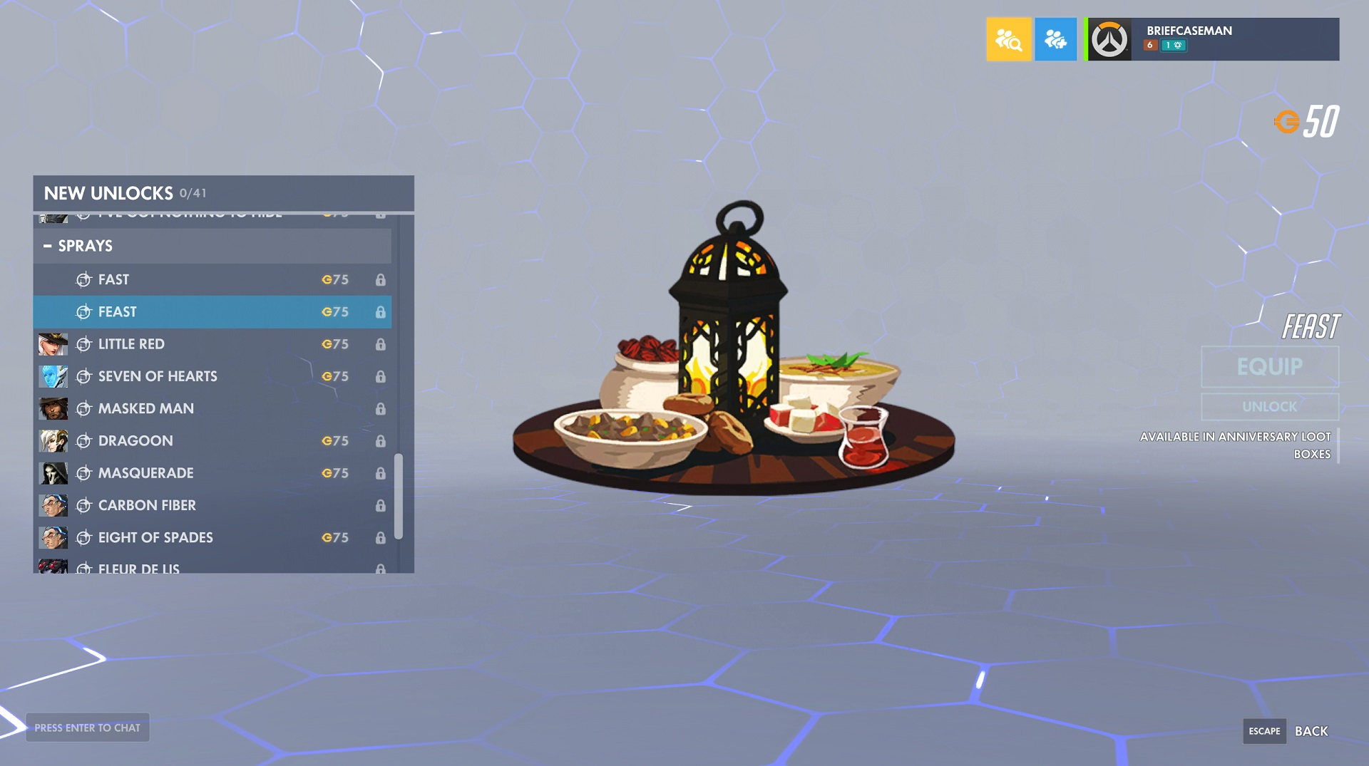 Overwatch added Fast and Feast Sprays to the game in its Anniverary update.