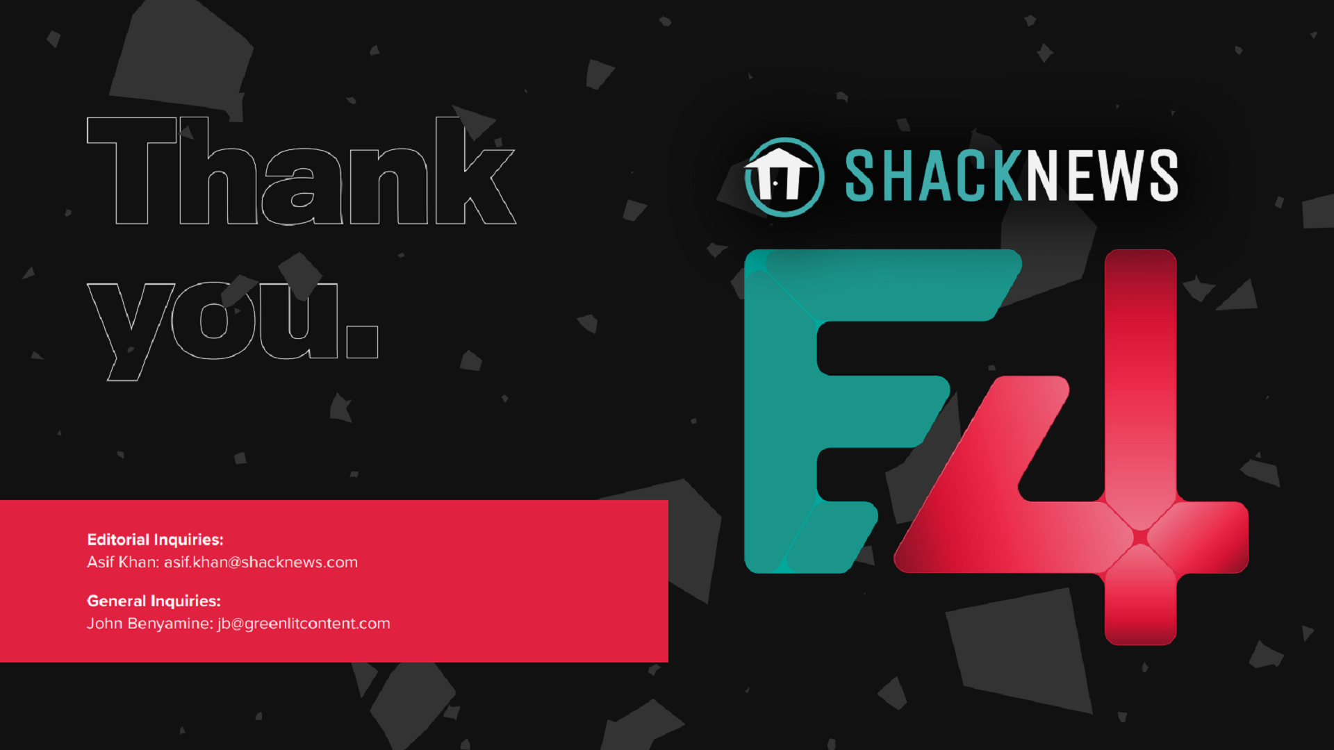 Contact us today if you want to join Shacknews this Summer to celebrate video games!
