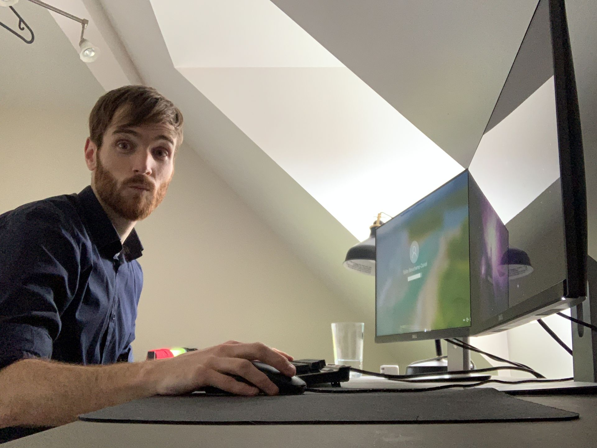 Behaviour's Stefan Beauchamp has two screens at home for double the productivity (and dual-screen gaming). Image courtesy of Behaviour Interactive.