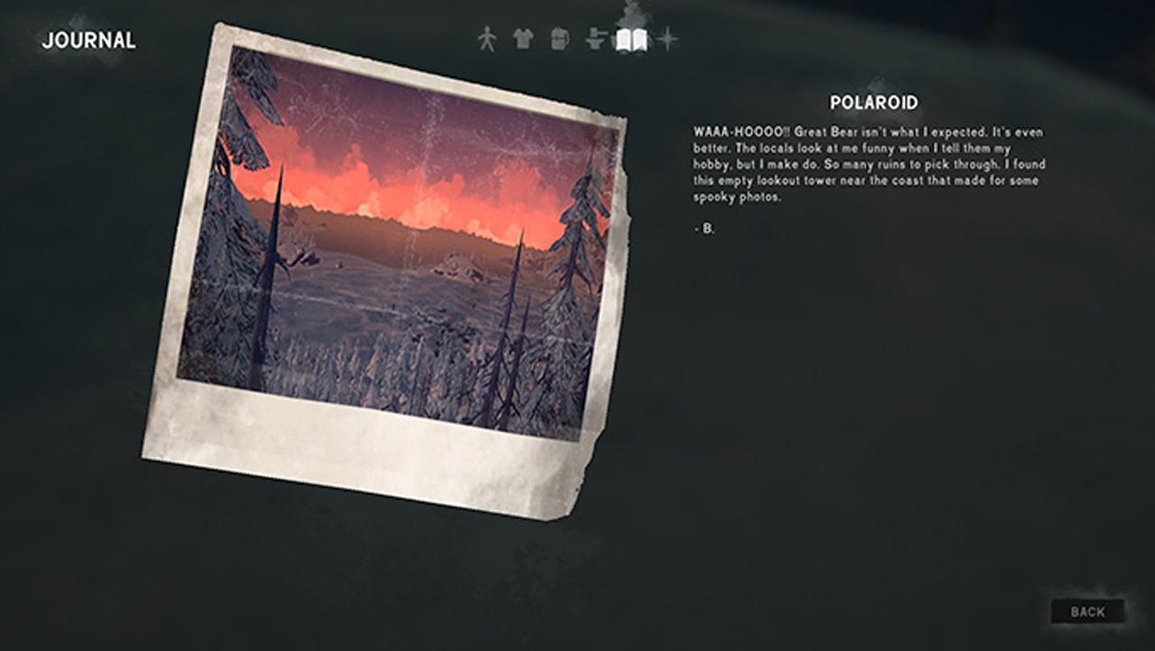 the long dark fearless navigator Polaroid photos