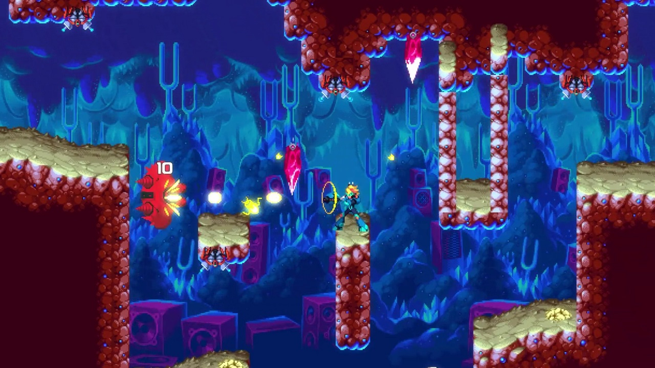 Whether you go as the buster gun-toting Nina or the sword-wielding Ace, 30XX offers a cool and shifting run-and-gun platforming challenge.