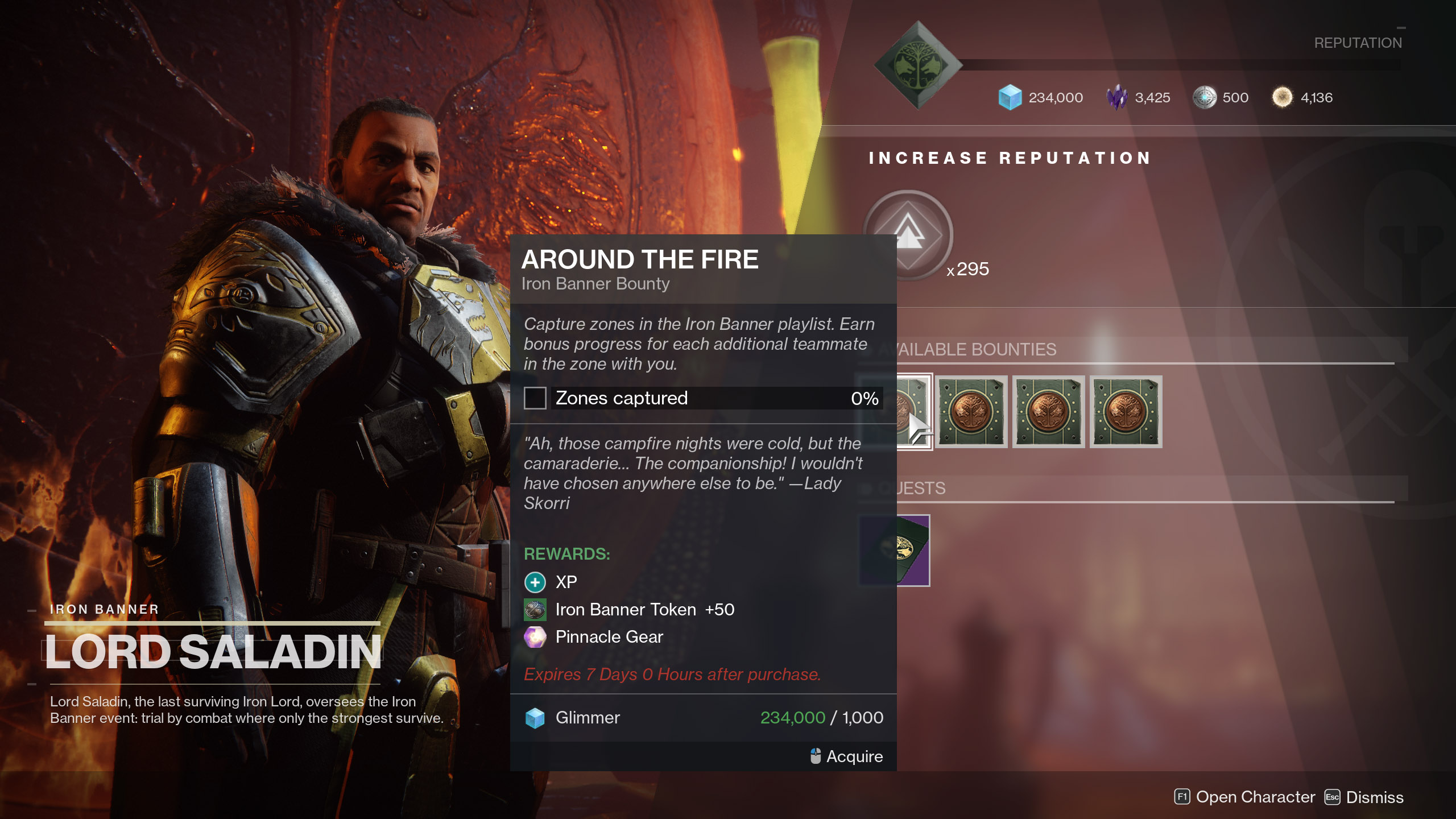 Around Fire Iron Banner Bounty