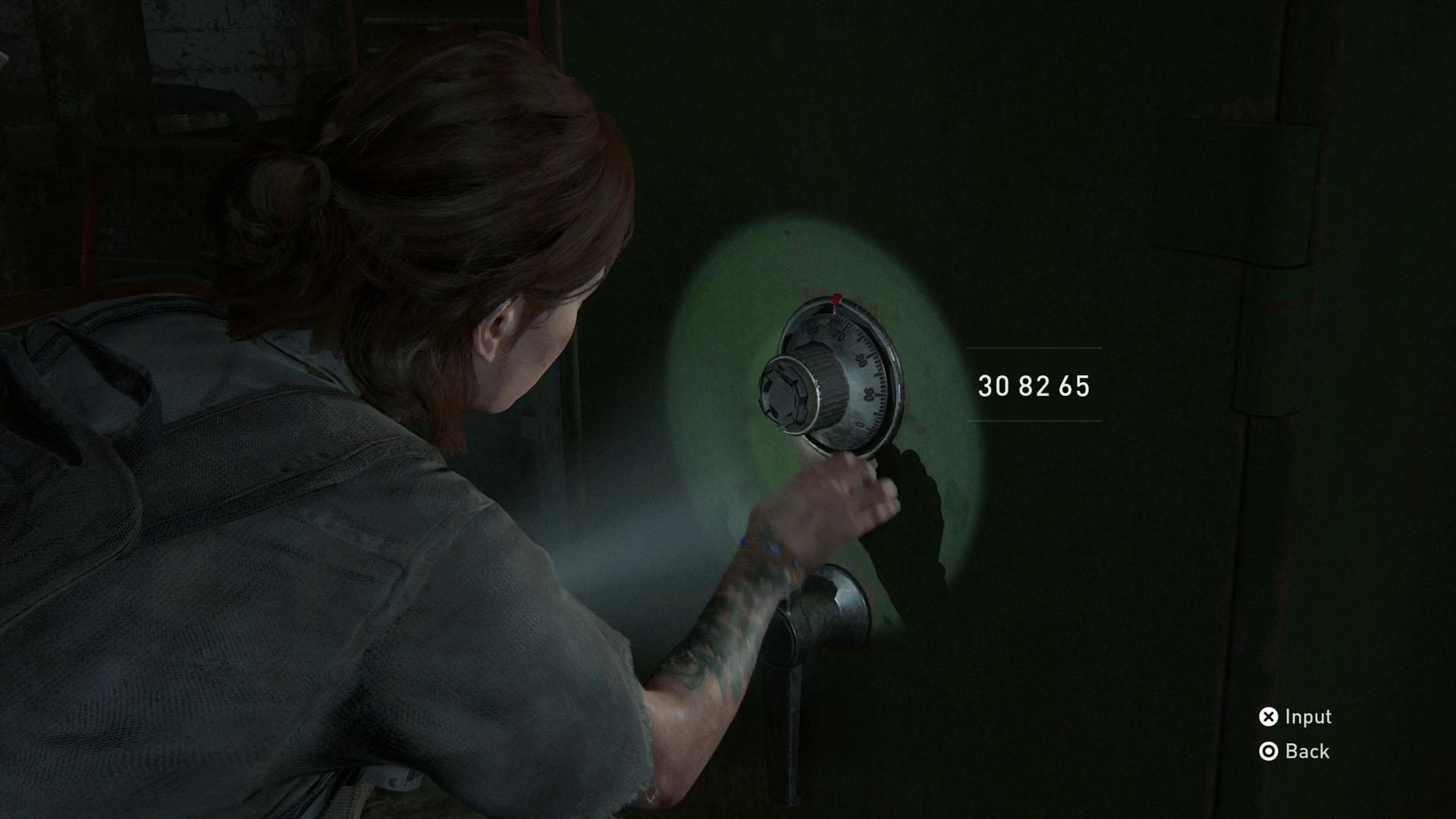 The Last of Us 2 safe codes - auto garage