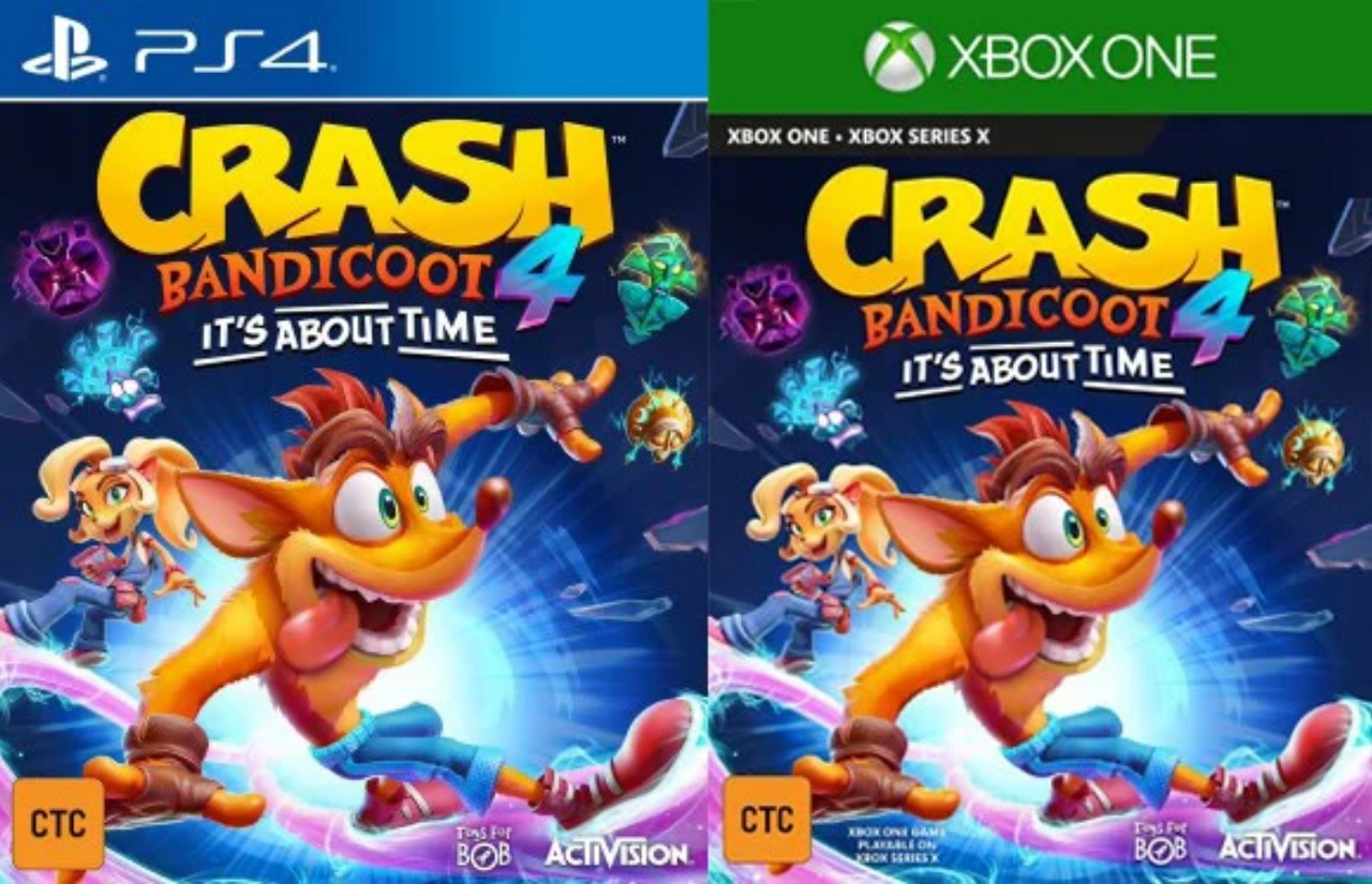 The covers revealed for Crash Bandicoot 4: It's About Time showcase new masks in addition to our familiar friend Aku Aku.