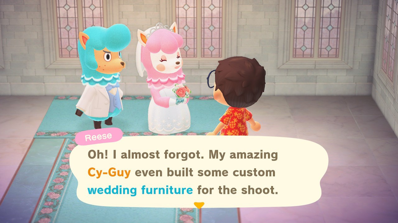 You can buy the Wedding Day event furniture from Cyrus after completing photoshoots