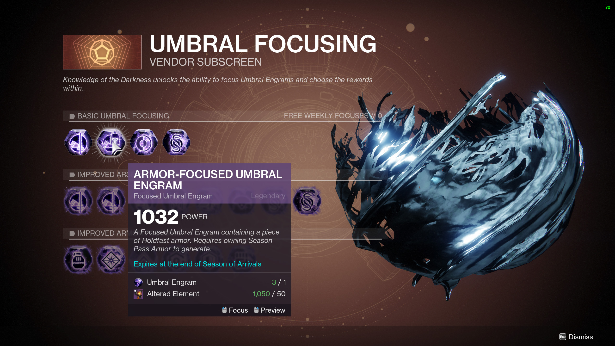destiny 2 armor-focused umbral engram