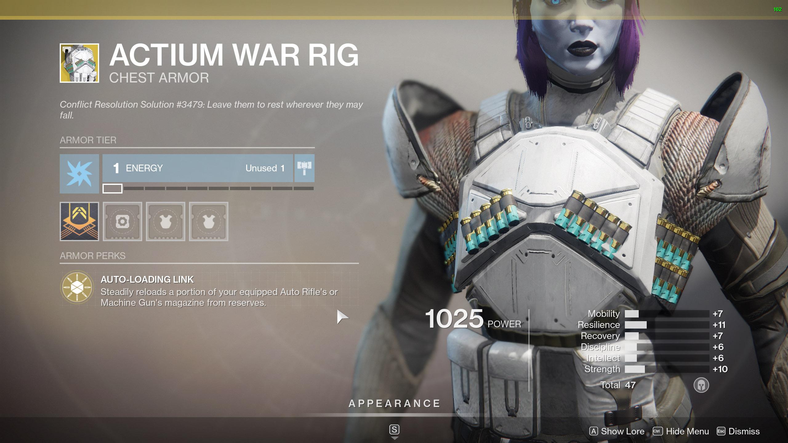 Destiny 2 Exotic Titan Armor Actium War Rig