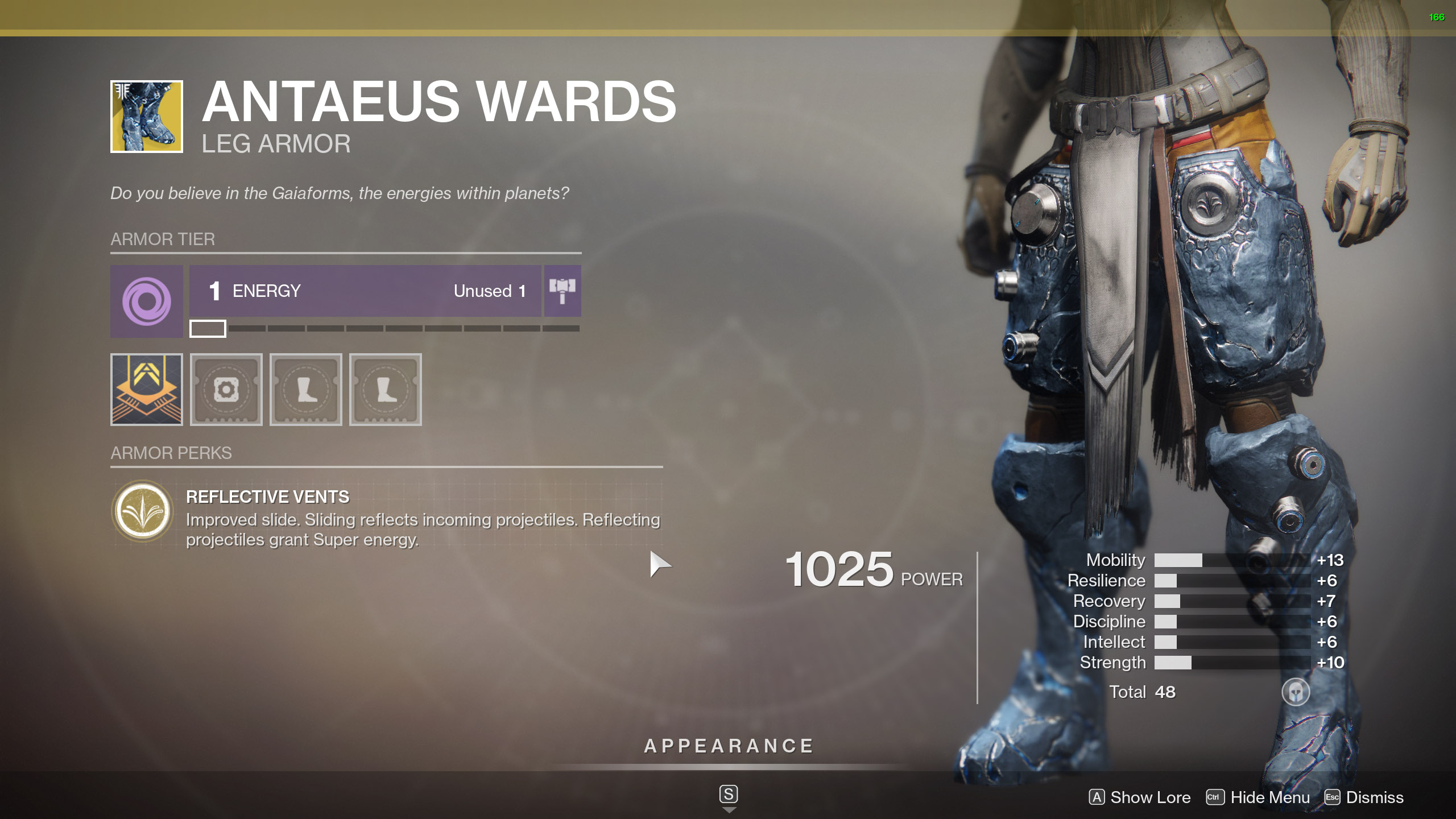 Destiny 2 Exotic Titan Armor Antaeus Wards
