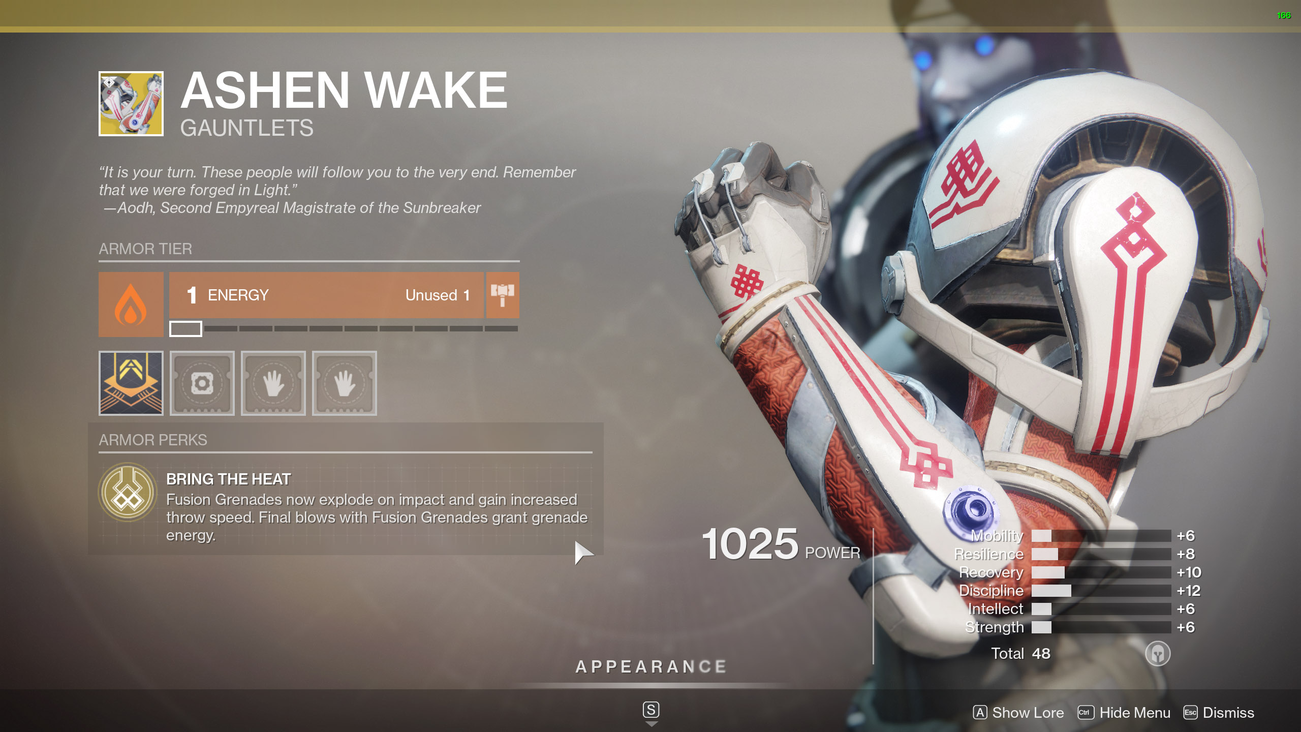 Destiny 2 Exotic Titan Armor Ashen Wake