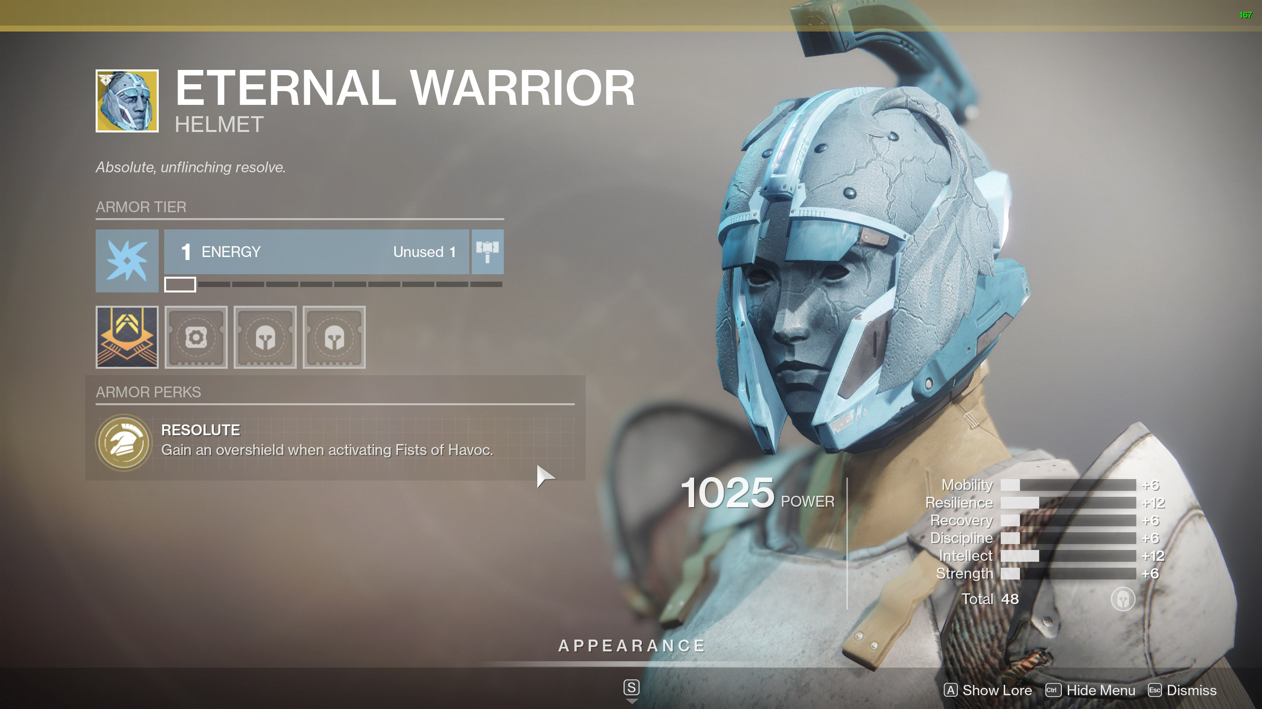 Destiny 2 Exotic Titan Armor Eternal Warrior