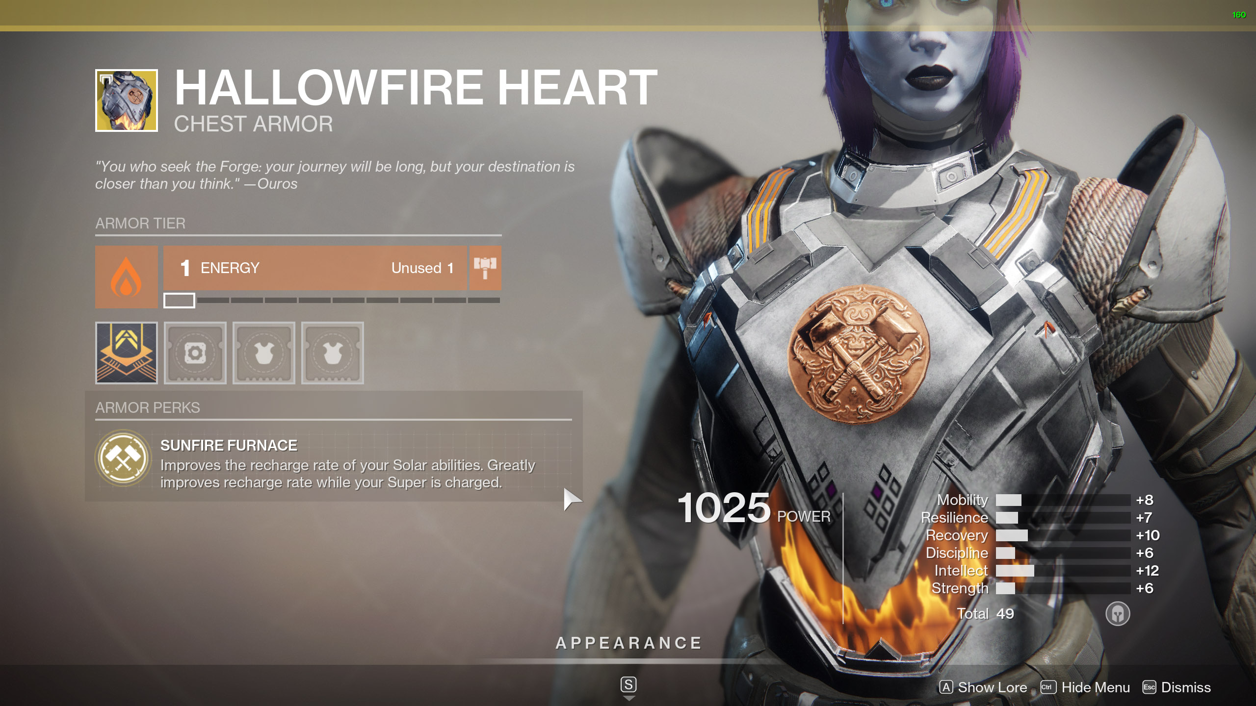 Destiny 2 Exotic Titan Armor Hallowfire Heart