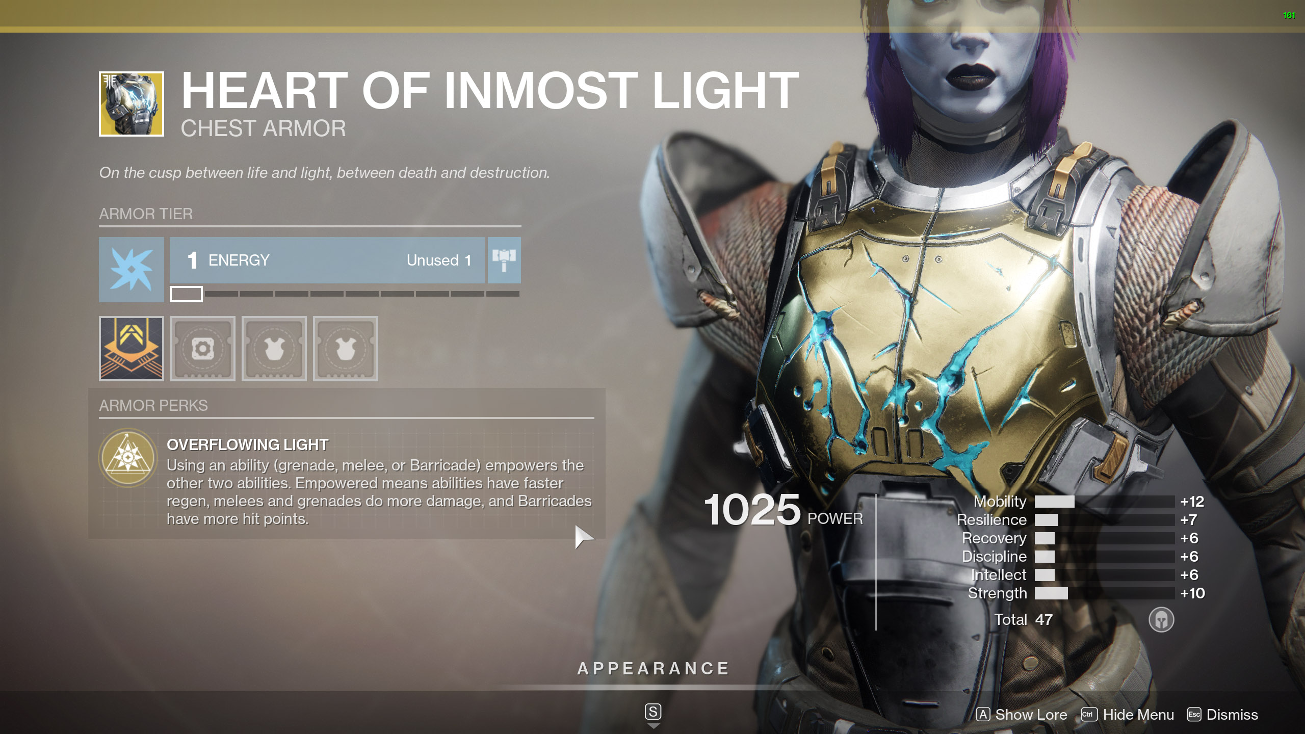 Destiny 2 Exotic Titan Armor Heart of Inmost Light