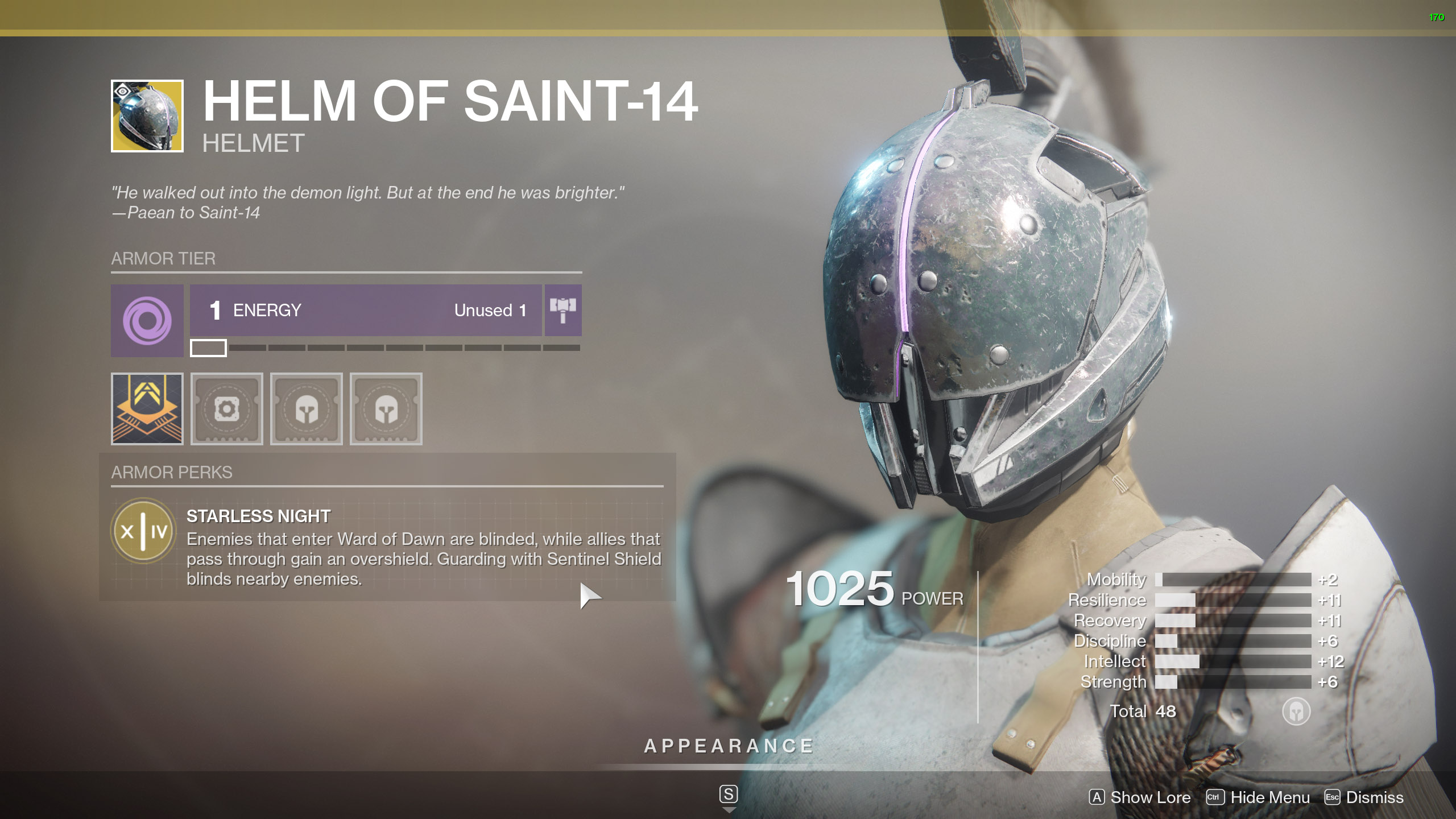 Destiny 2 Exotic Titan Armor Helm of Saint-14