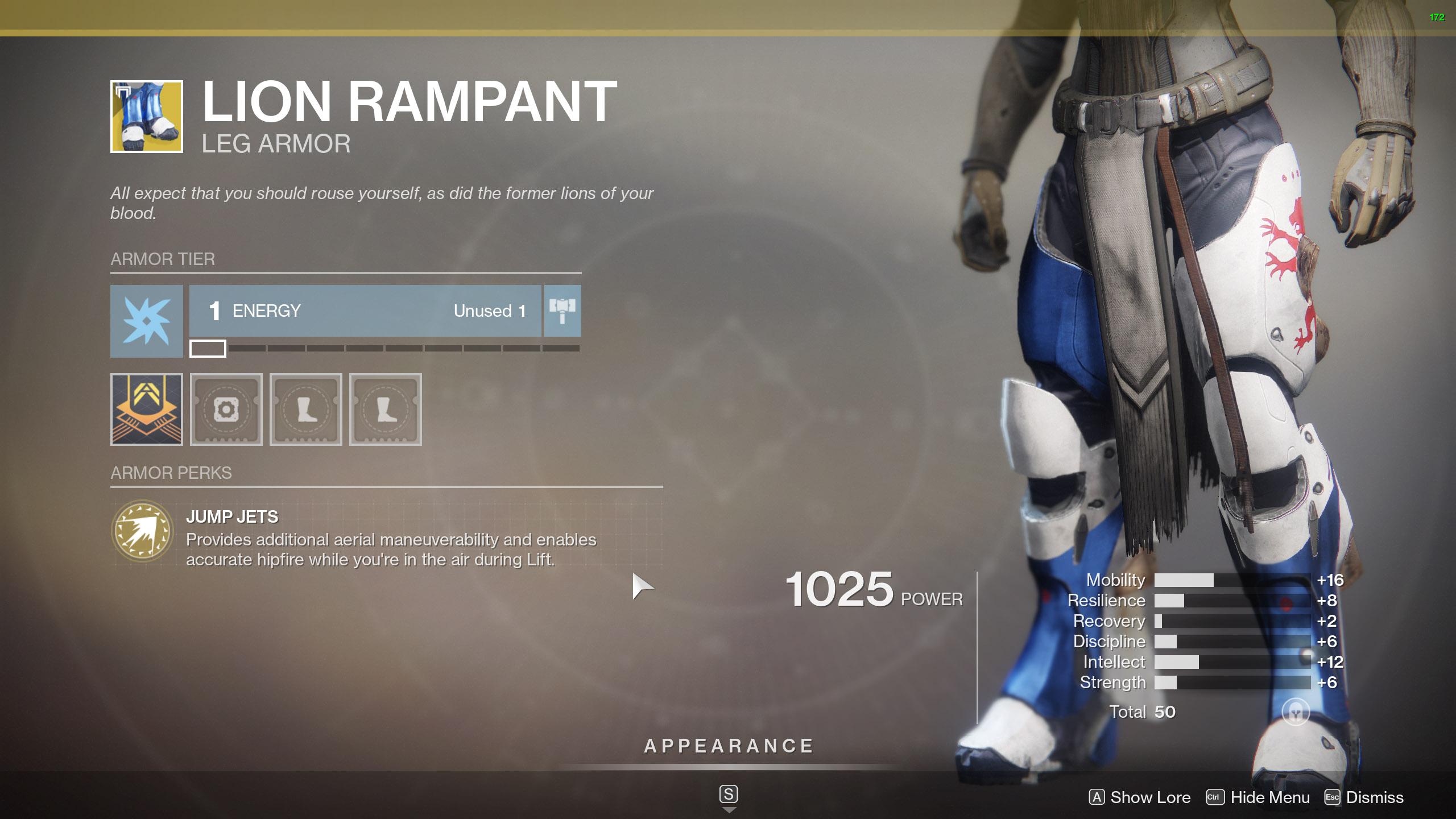 Destiny 2 Exotic Titan Armor Lion Rampant