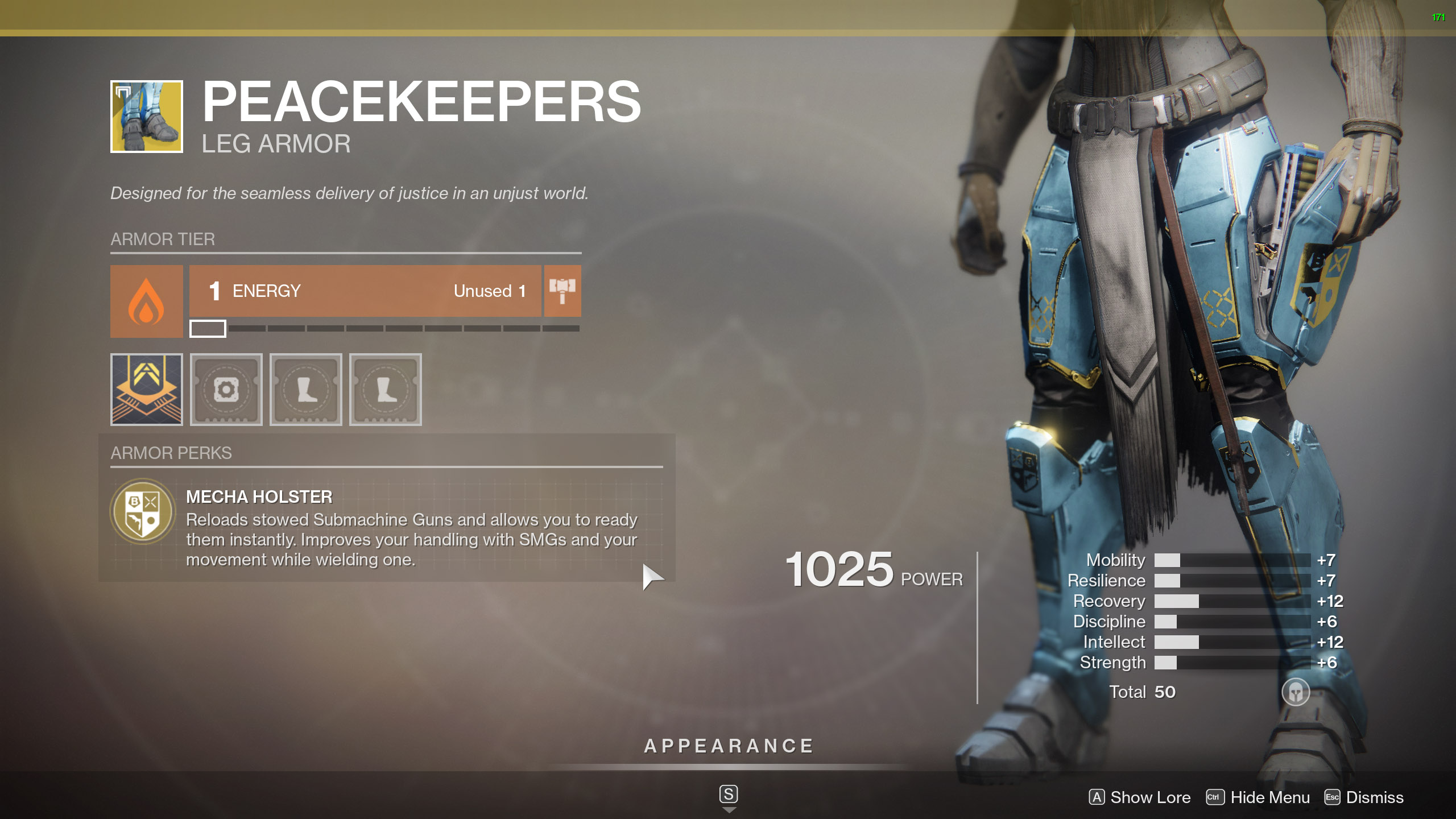 Destiny 2 Exotic Titan Armor Peacekeepers