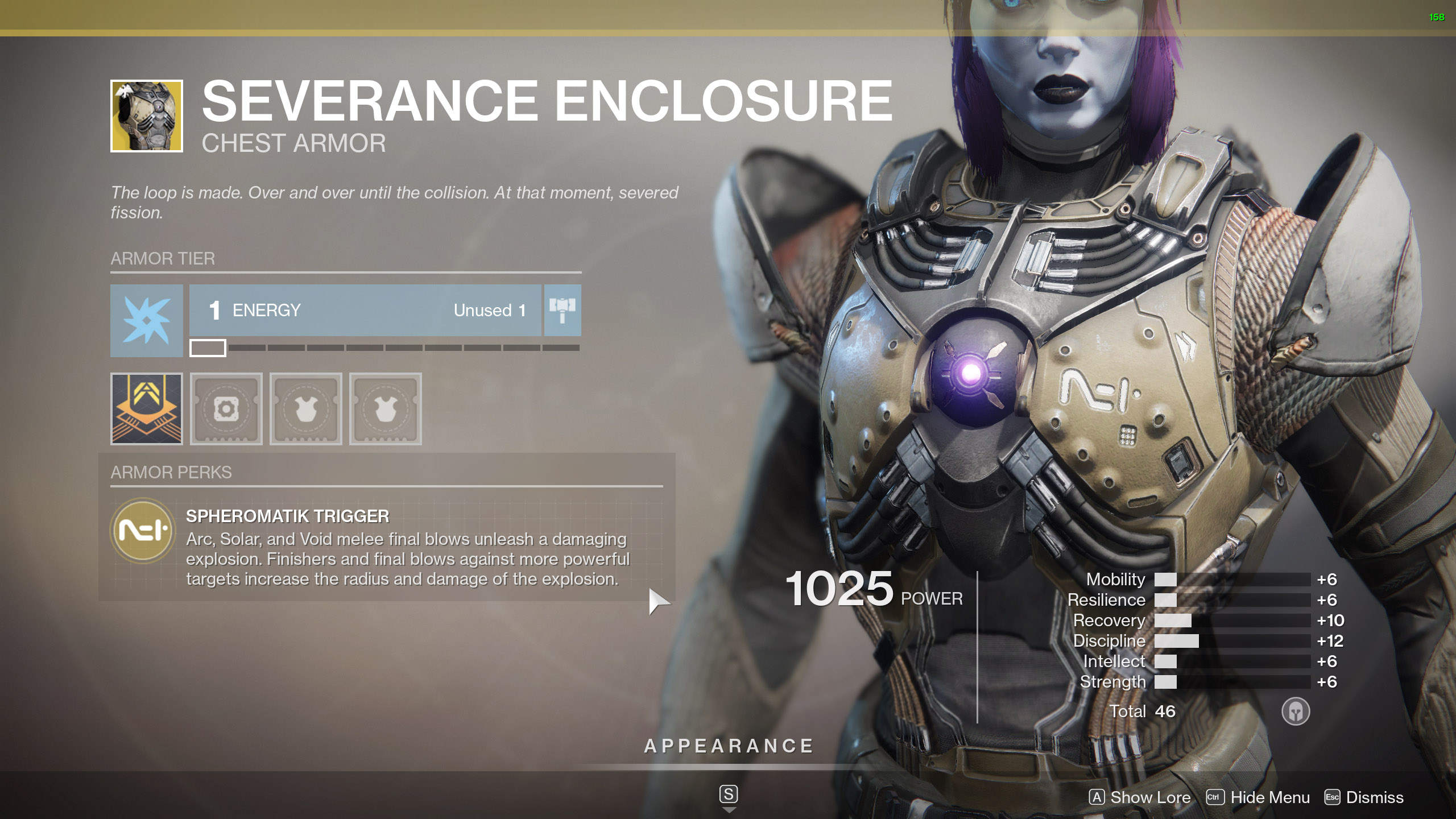 Destiny 2 Exotic Titan Armor Severance Enclosure