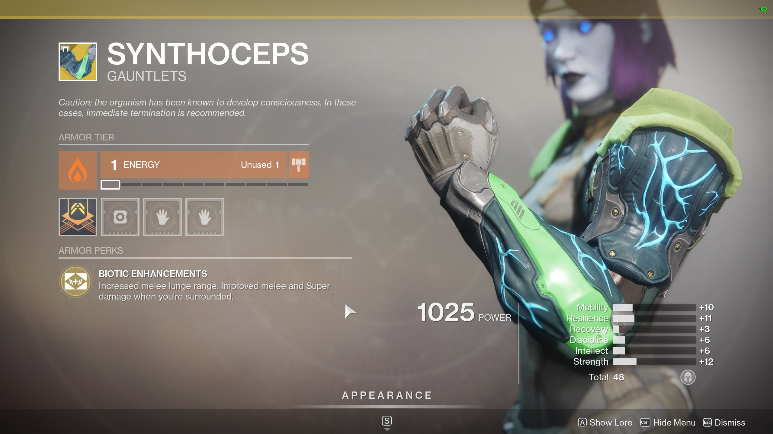 Destiny 2 Exotic Titan Armor Synthoceps