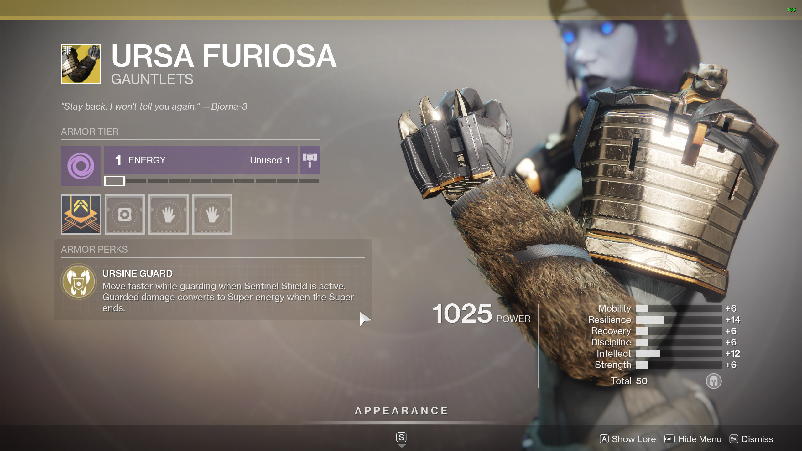 Destiny 2 Exotic Titan Armor Ursa Furiosa